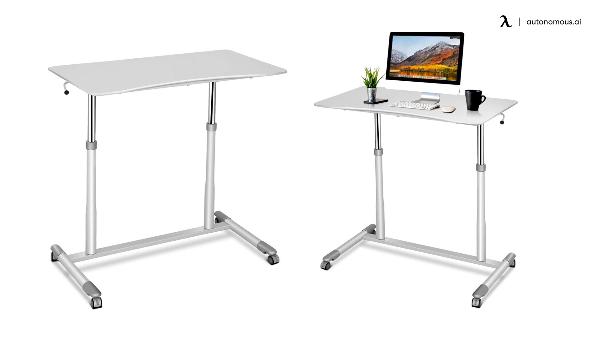 Mobile Standing Desk by Tangkula