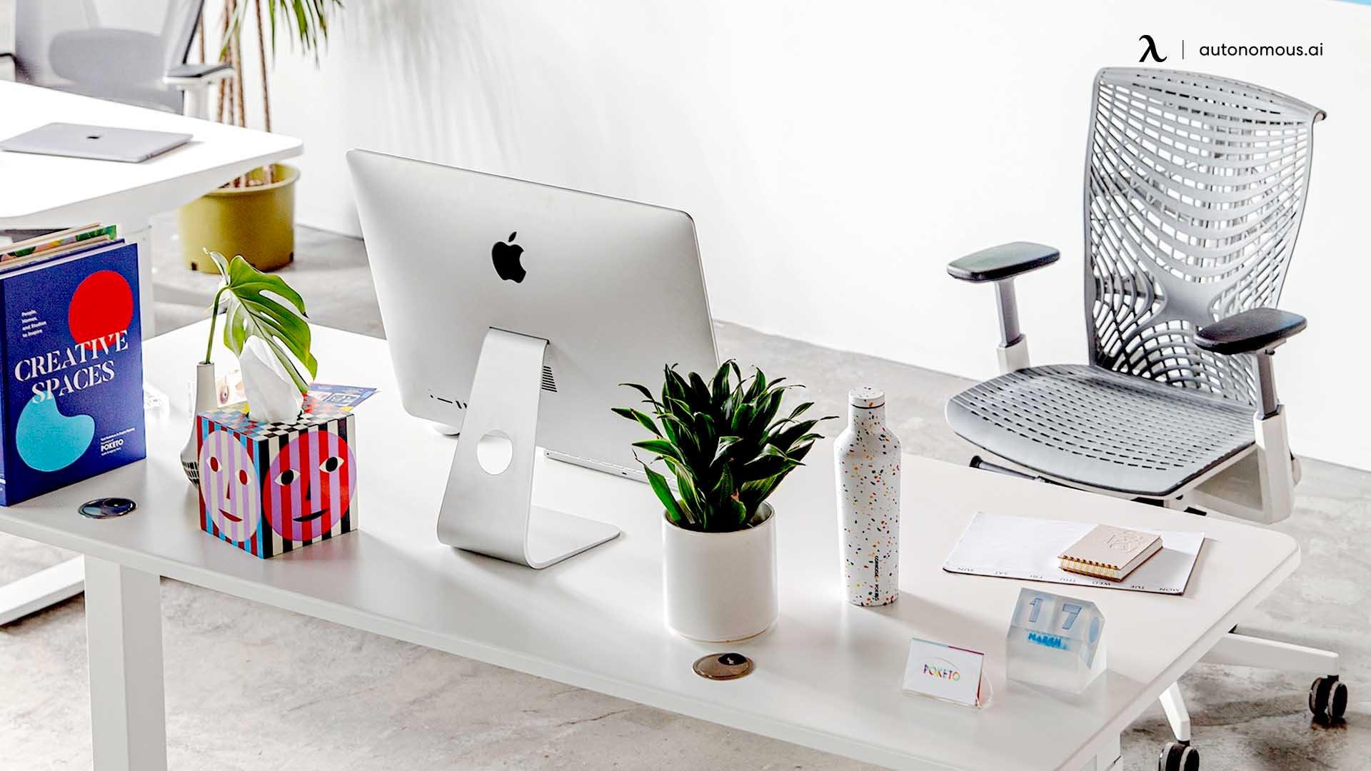 Change the desk setup