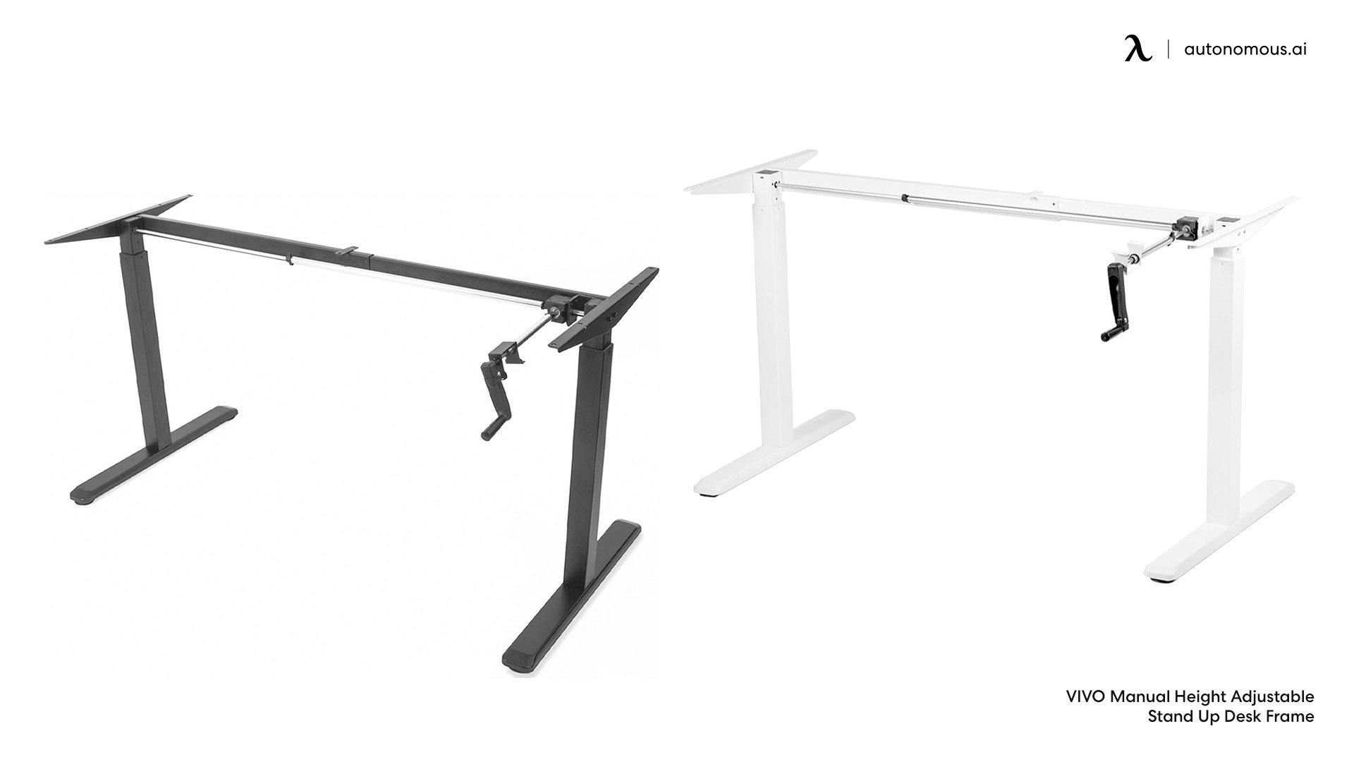 Manual Crank Adjustable Desk Leg