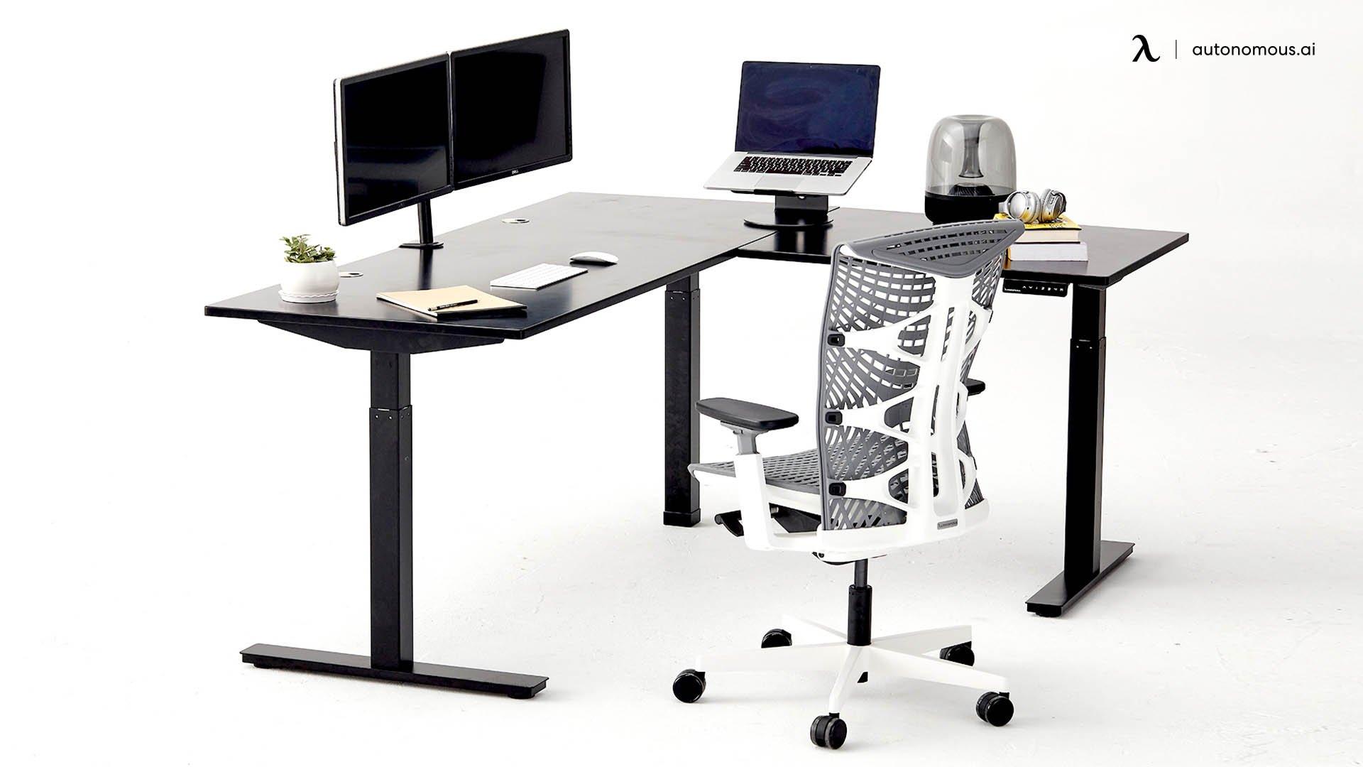 L-Shaped Standing Desk by Autonomous