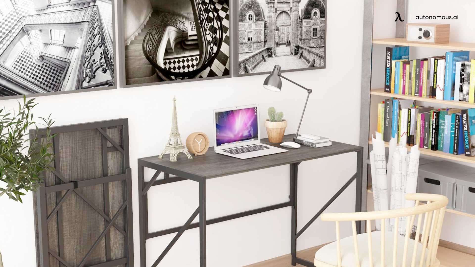 Foldable home office desk