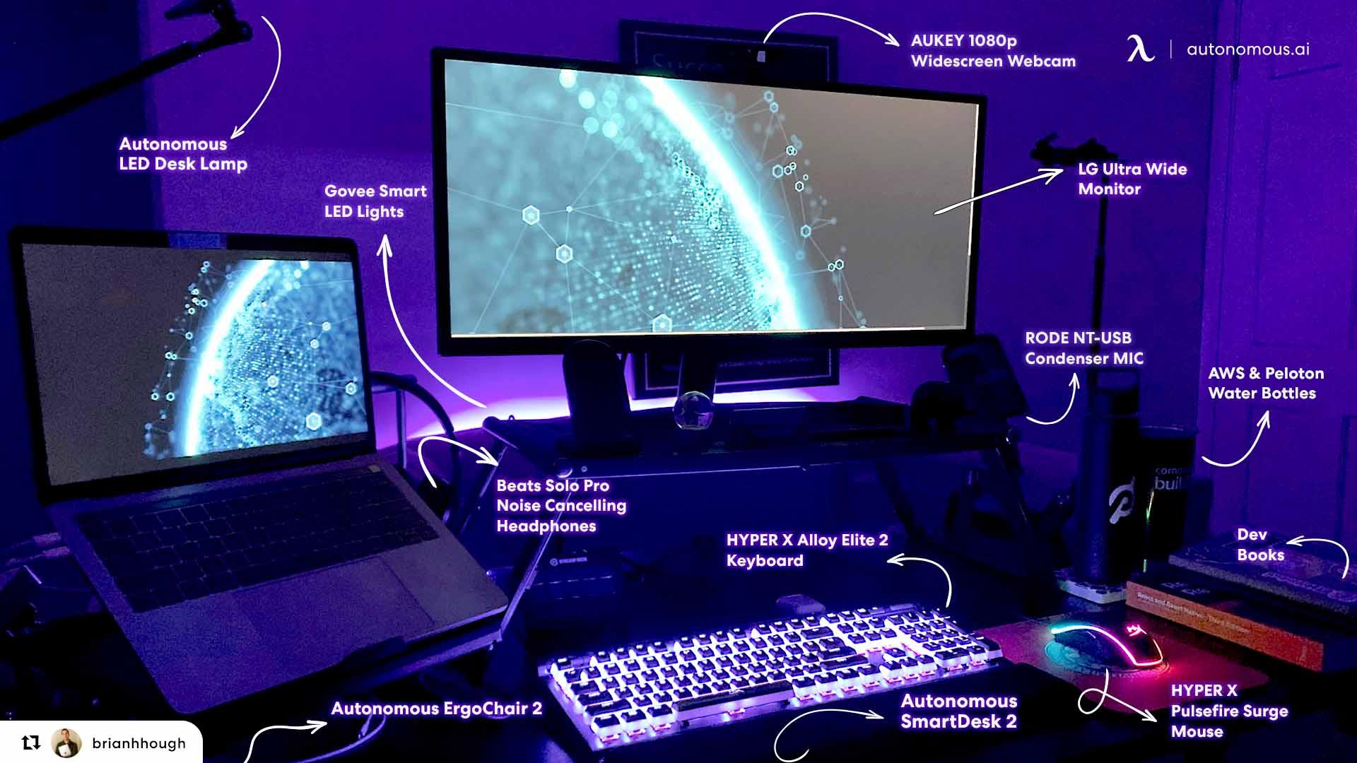 Desk setup break down