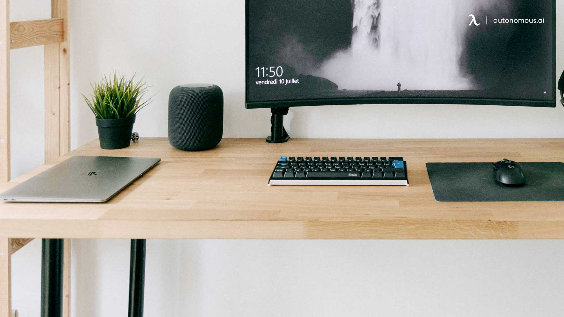 Solid Wood Electric Standing Desk