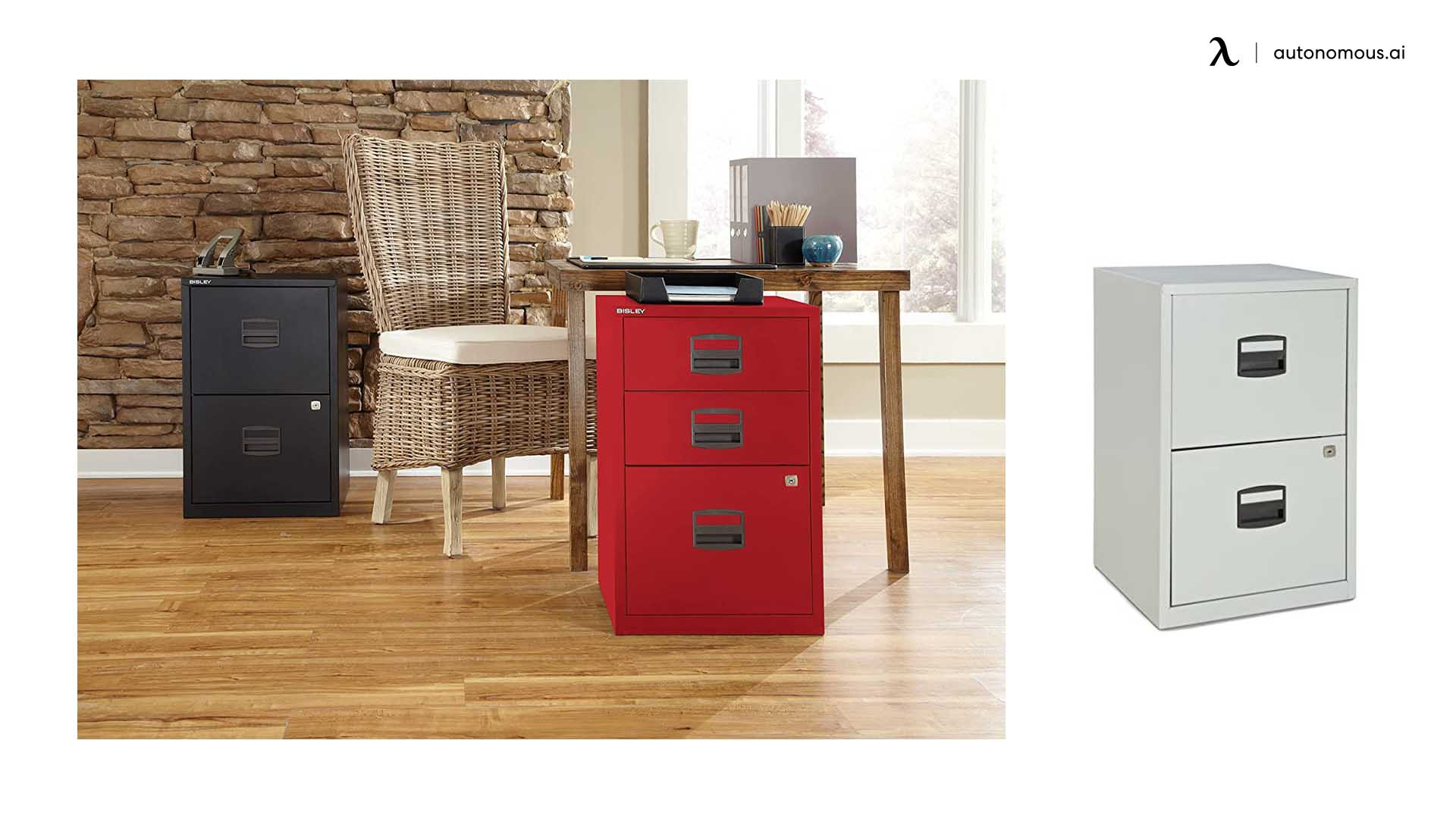 Bisley Two Drawer Steel Cabinet