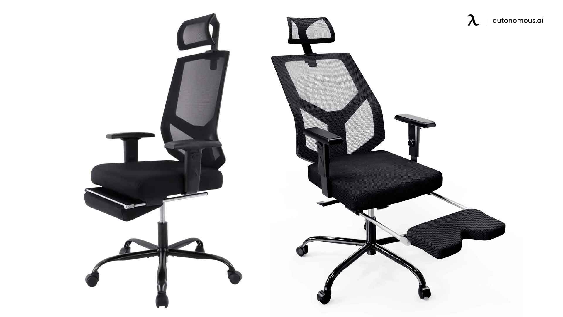 Smugdesk Office Chair with a Retracting Footrest