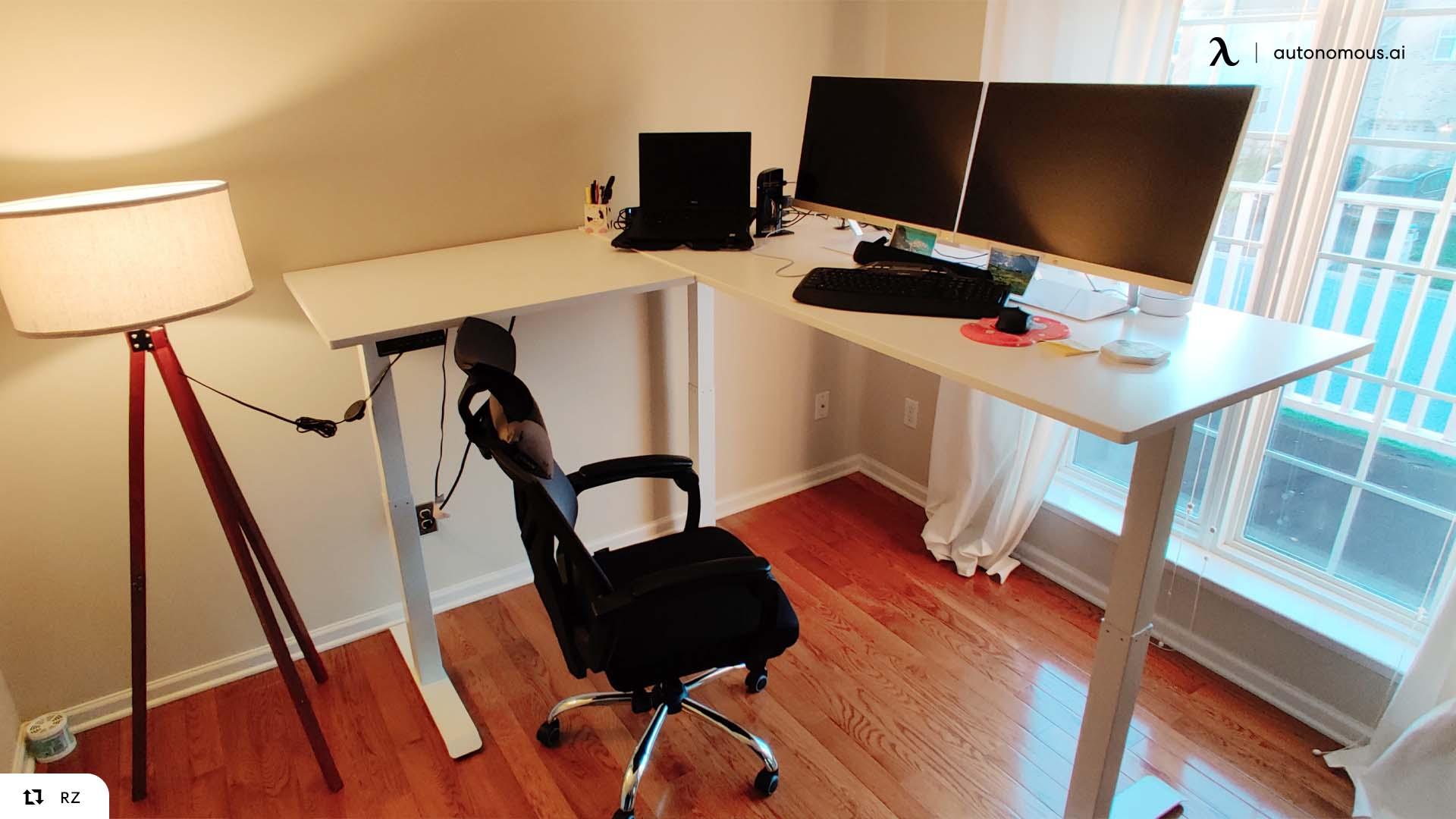L-Shaped Smart Desk from Autonomous