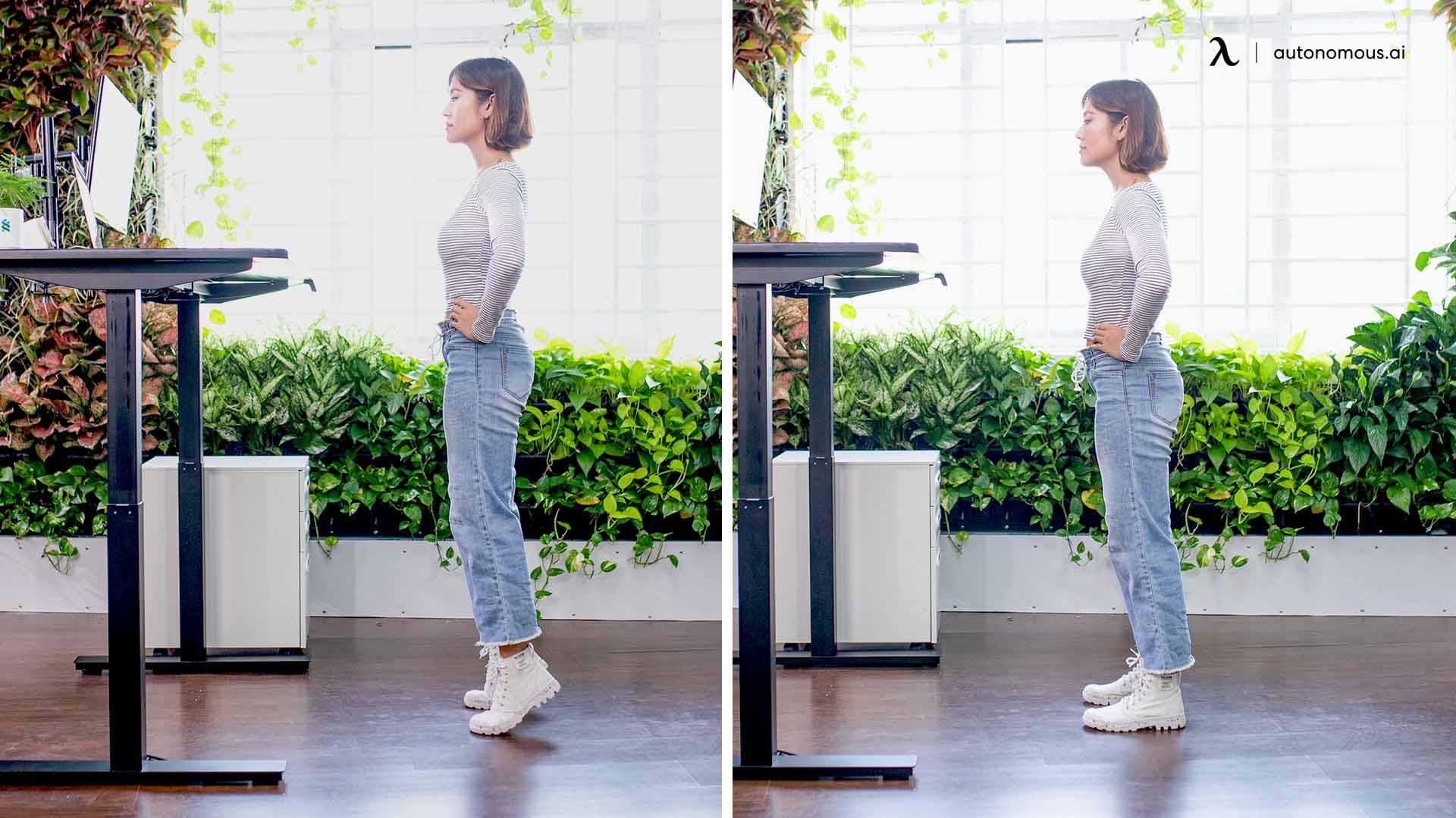 Standing Desk Back Stretch