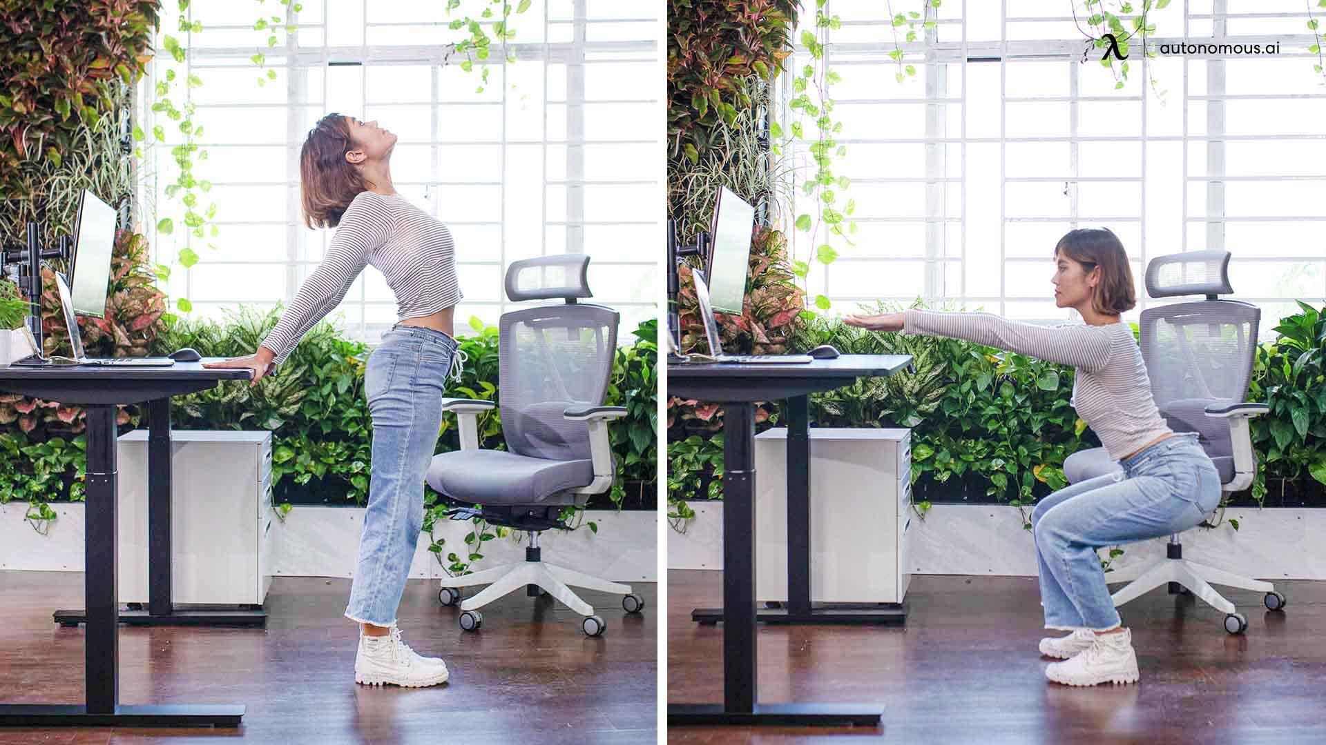 Standing Desk Chest Stretch