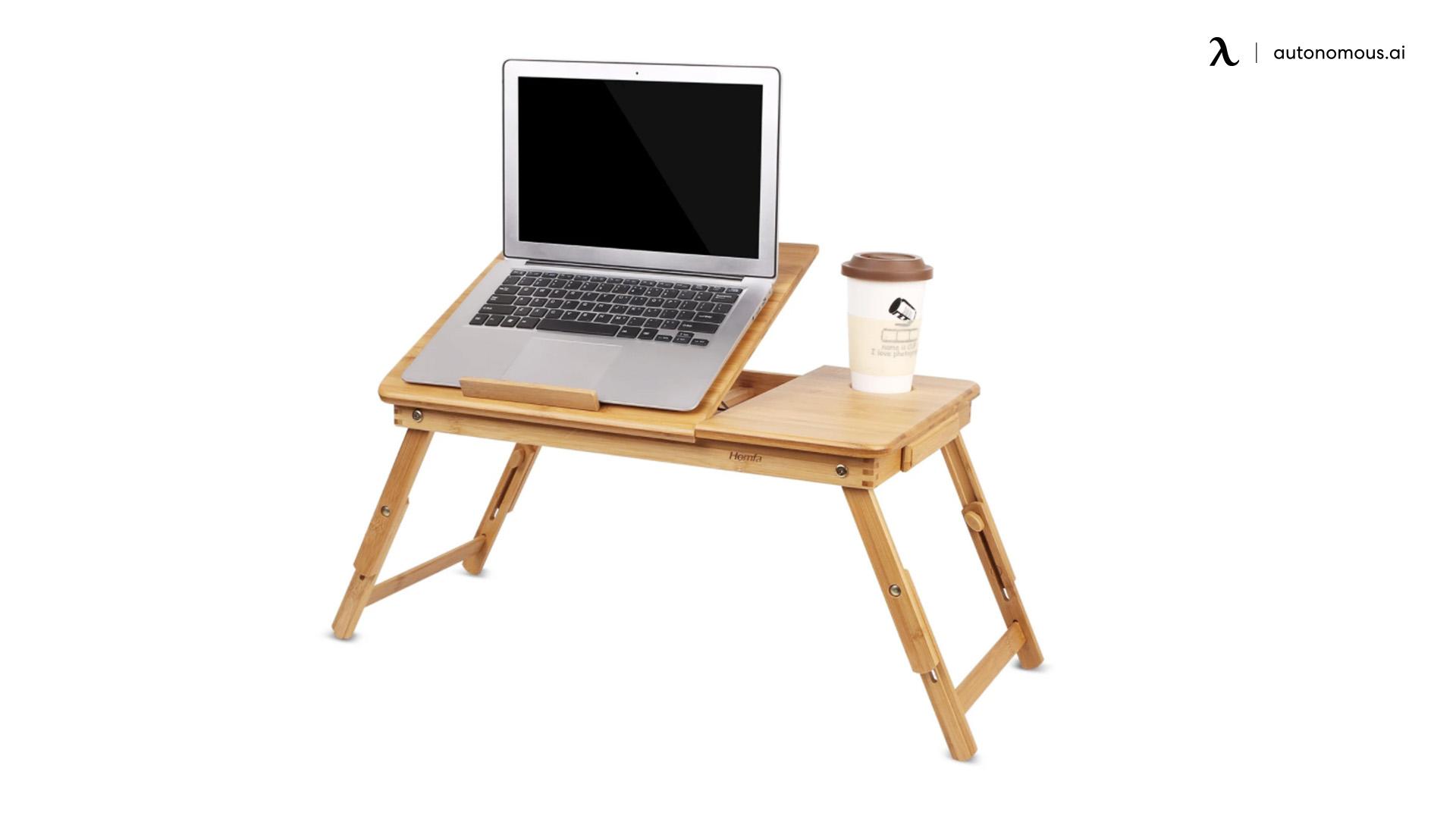The HOMFA bamboo laptop desk