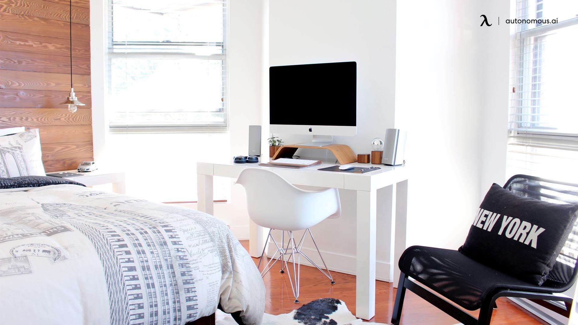 Set up the desk near a window