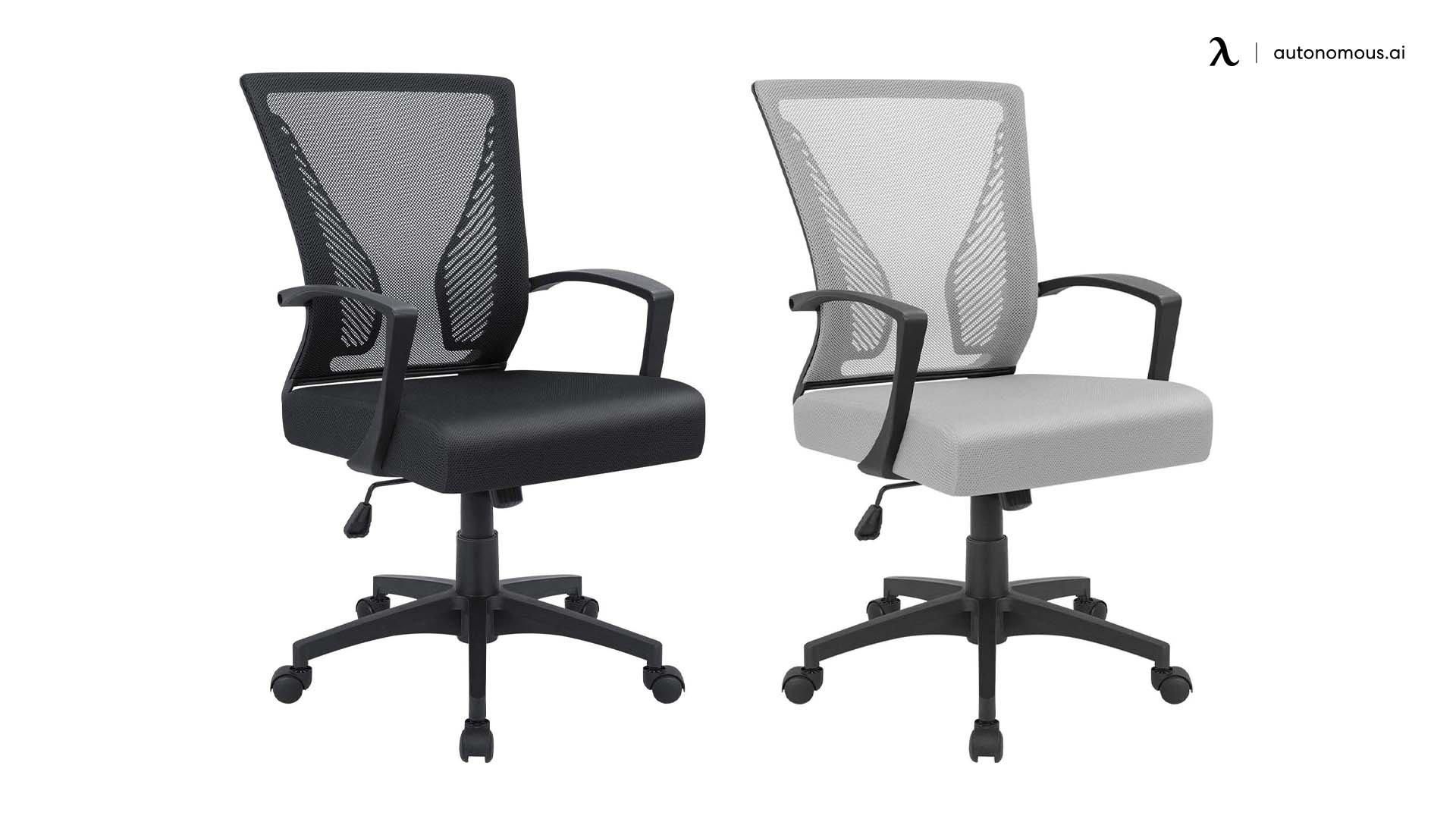 furmax office mid black chair