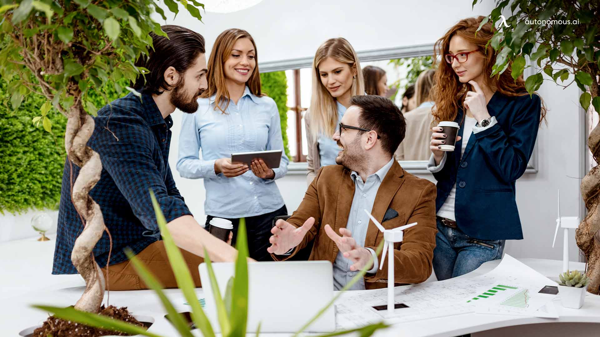 Carry conversation with employees