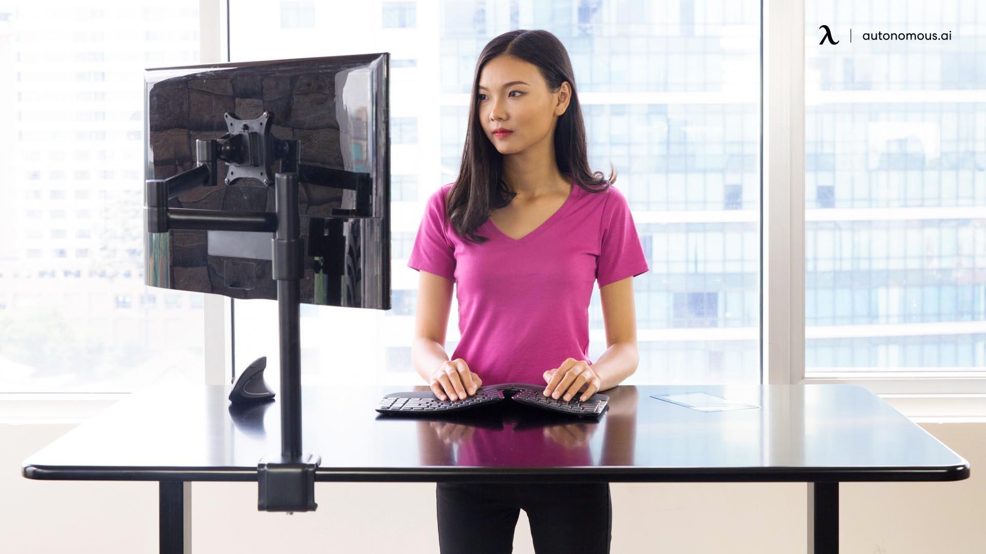 autonomous monitor arm