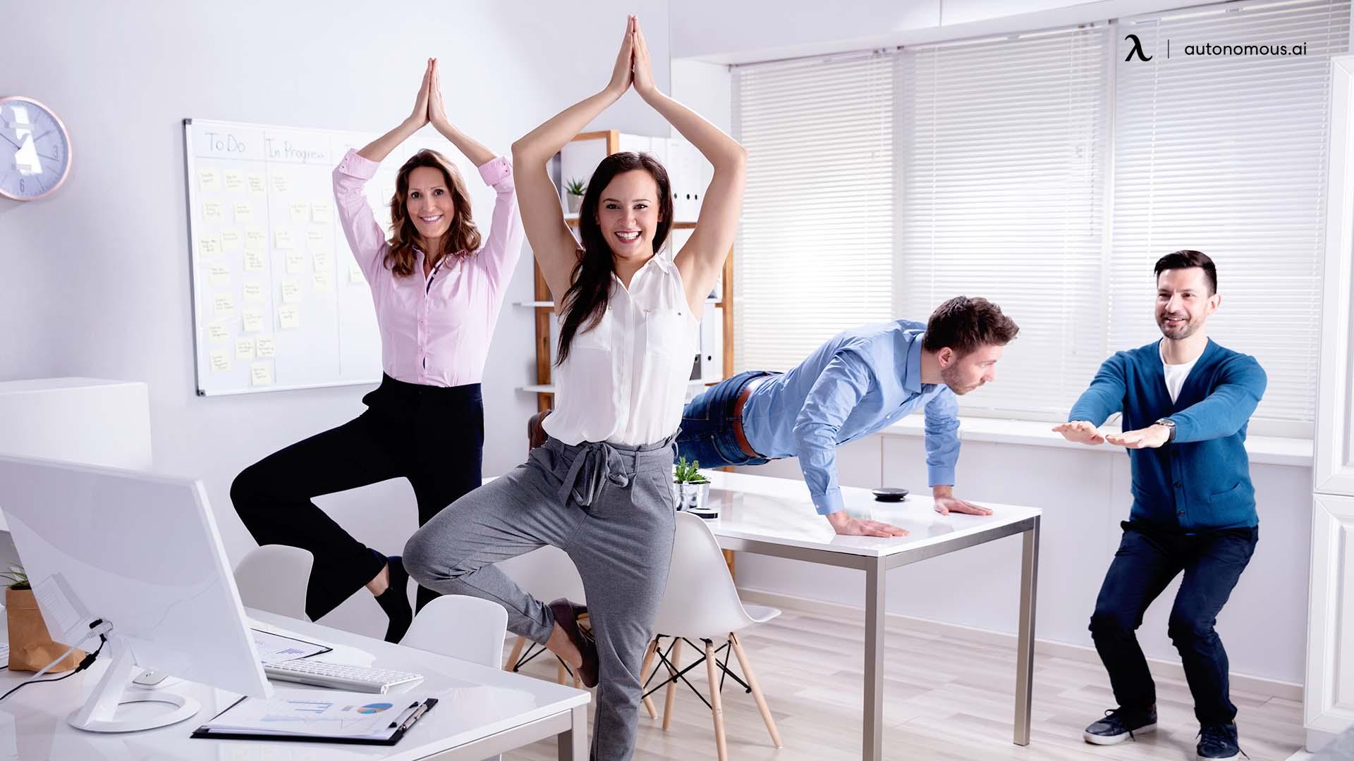 Easy Office Desk Yoga Poses