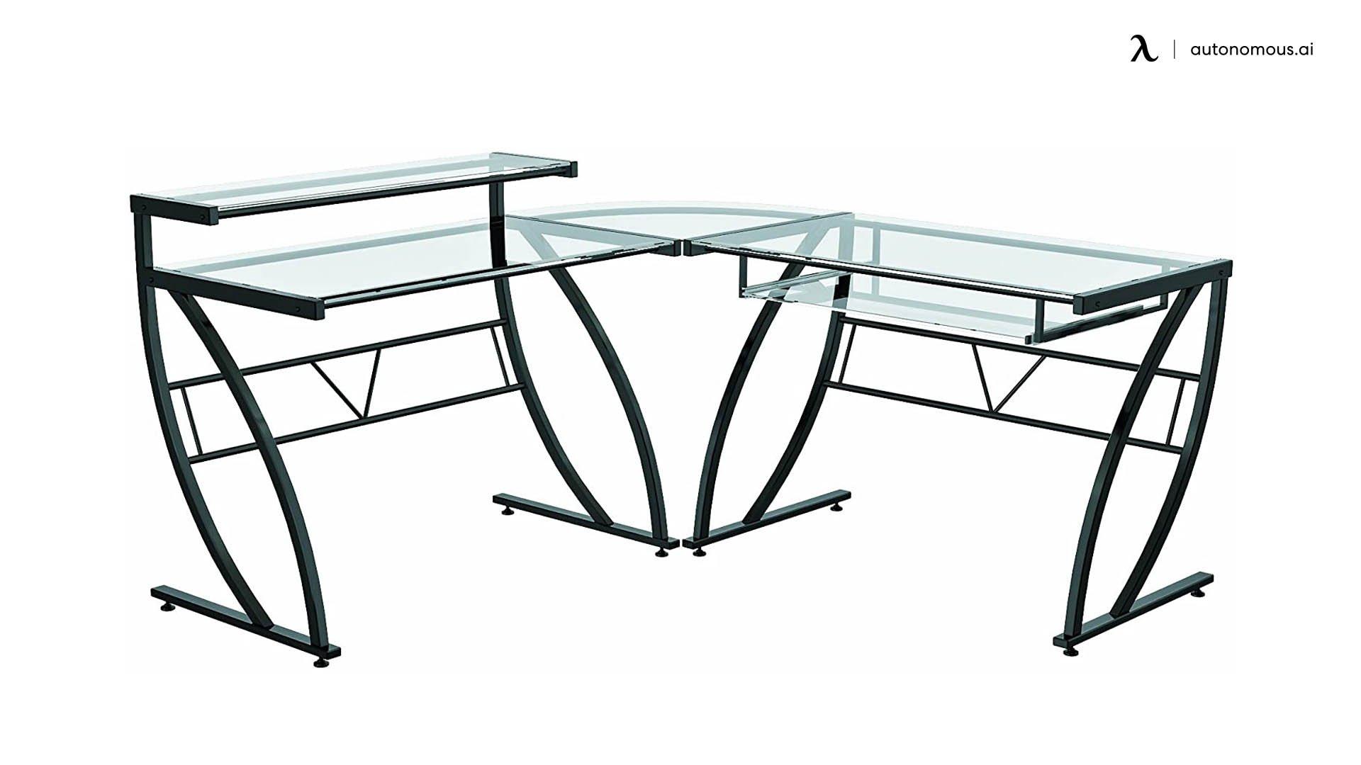 Z-Line Belaire L-Shaped Standing Desk Base