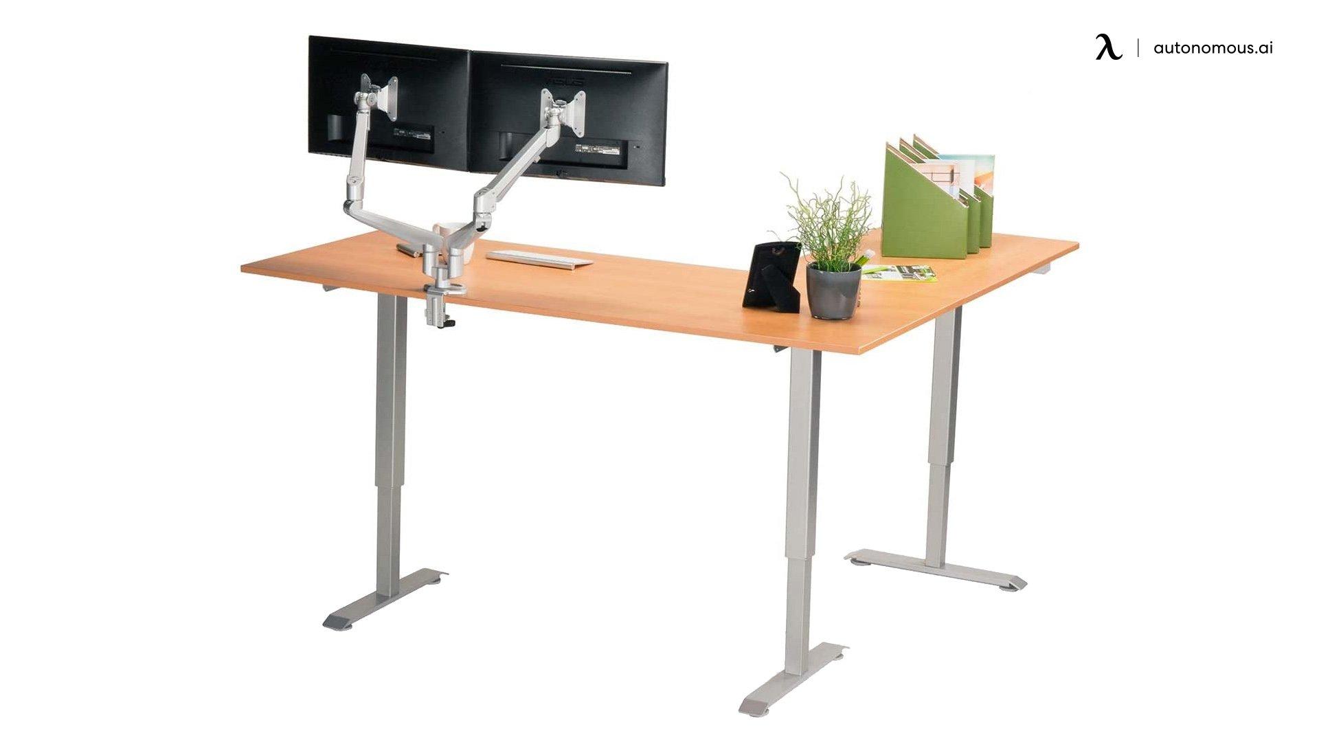 MultiTable L-Shaped Sit Stand Desk Frame