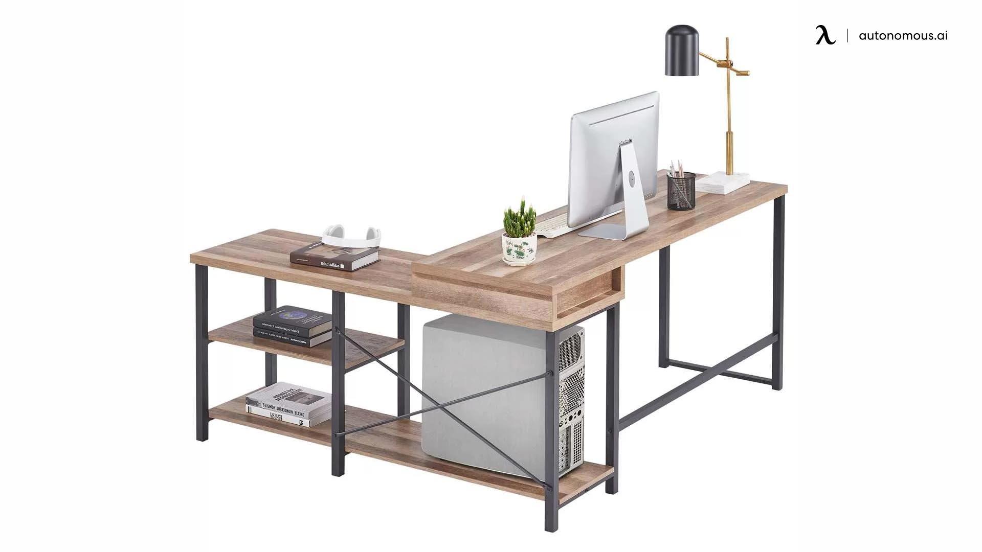 Gracie Oaks Bohannon L-Shaped Sit Stand Desk Frame