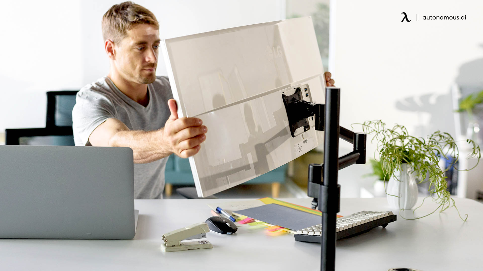 Adjust Your Monitor Height and Keyboard Placement