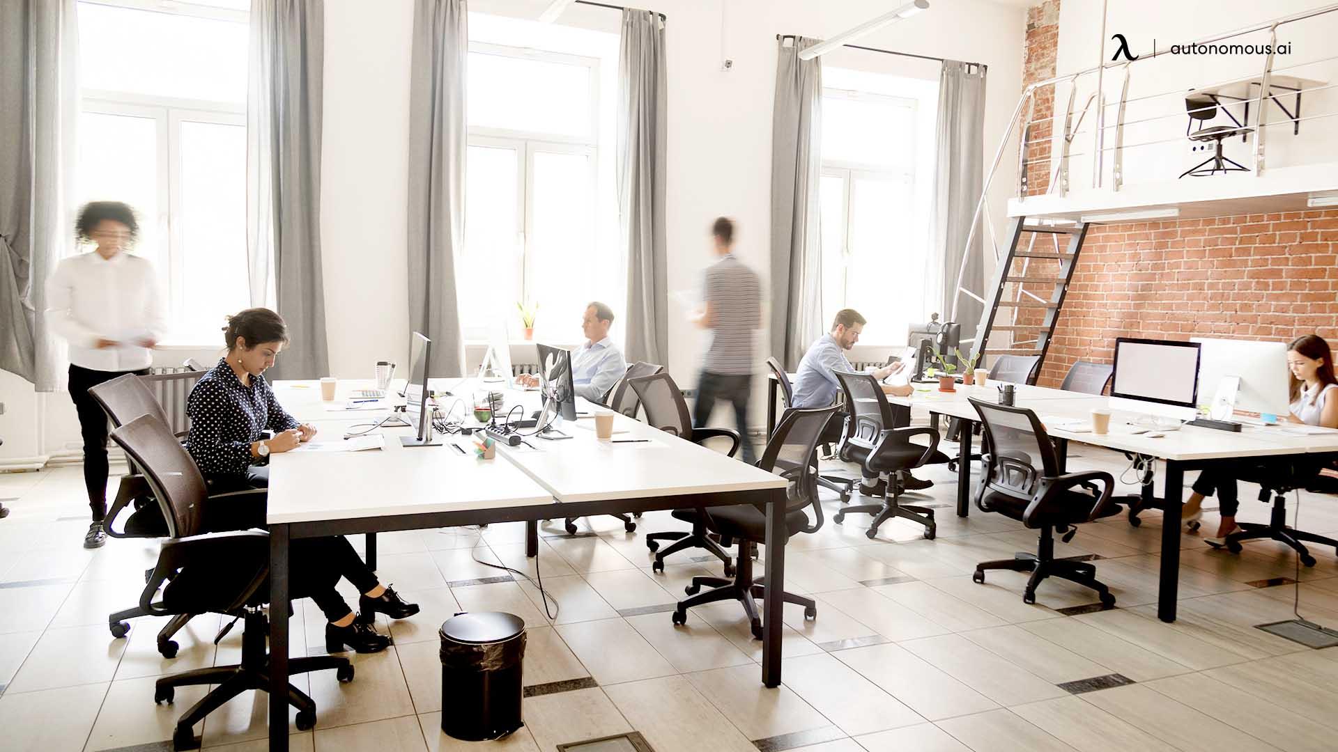 open-plan office
