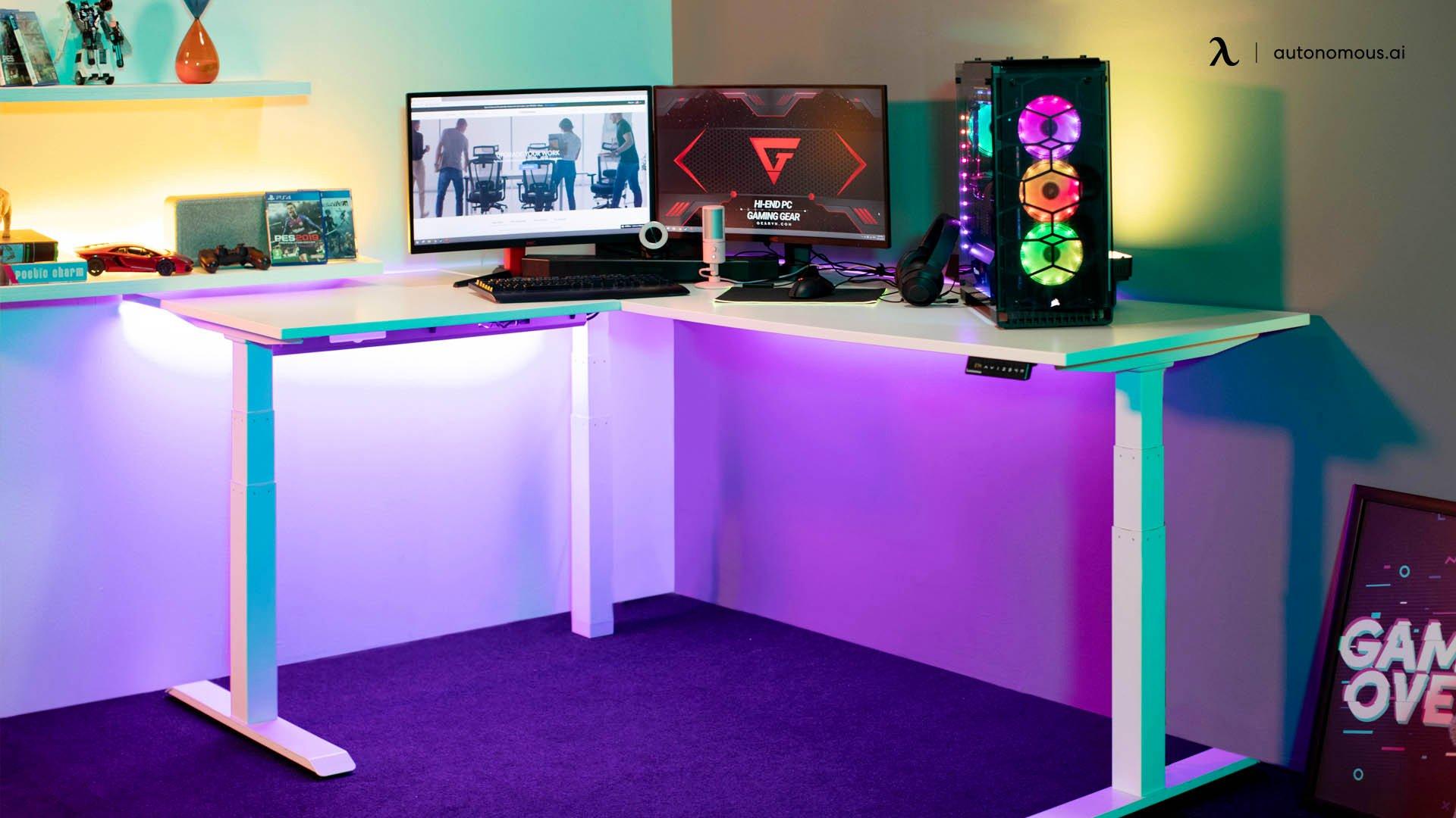 Buy the right ergonomic gaming desk.