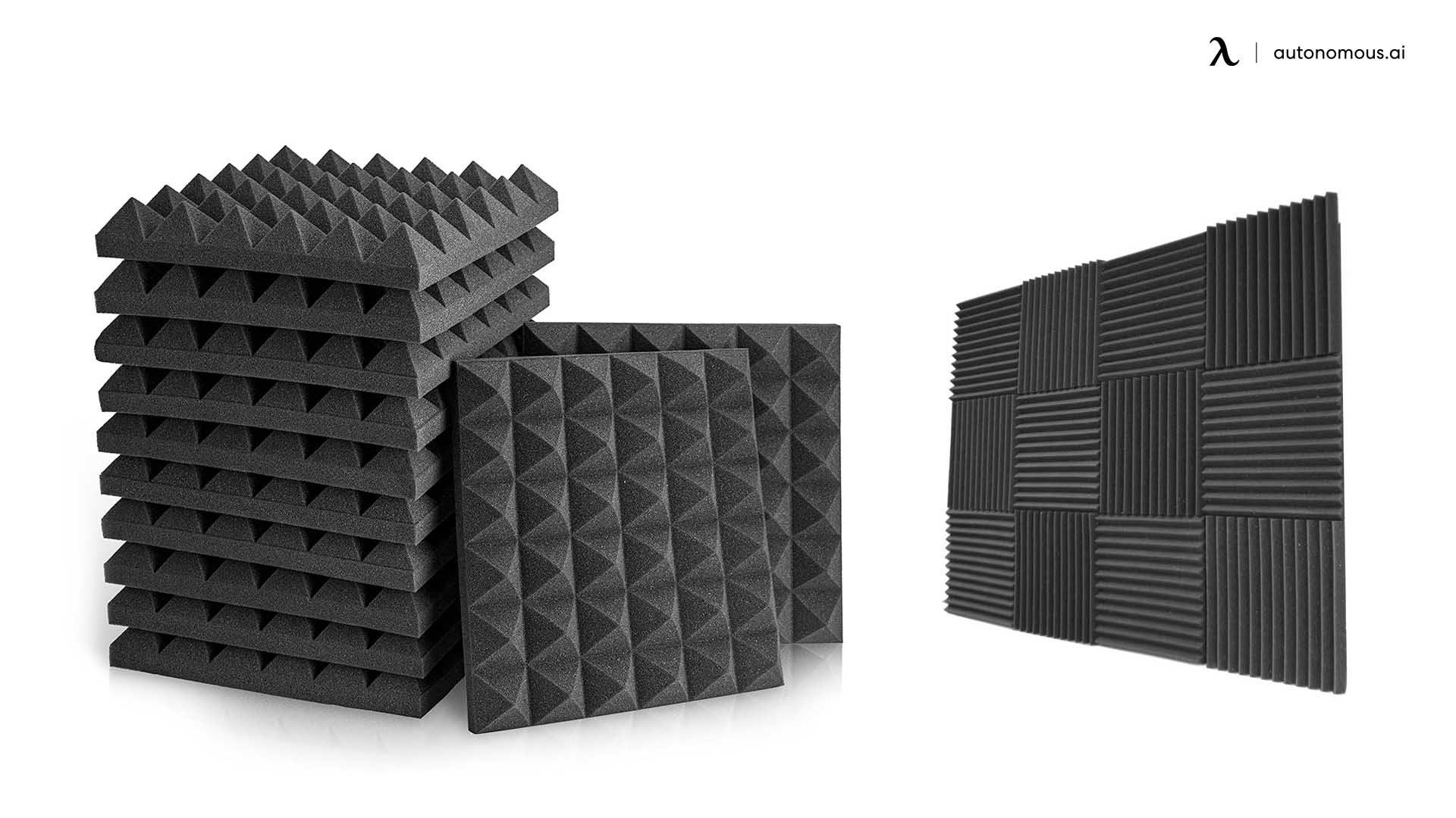 Install acoustic foam panels