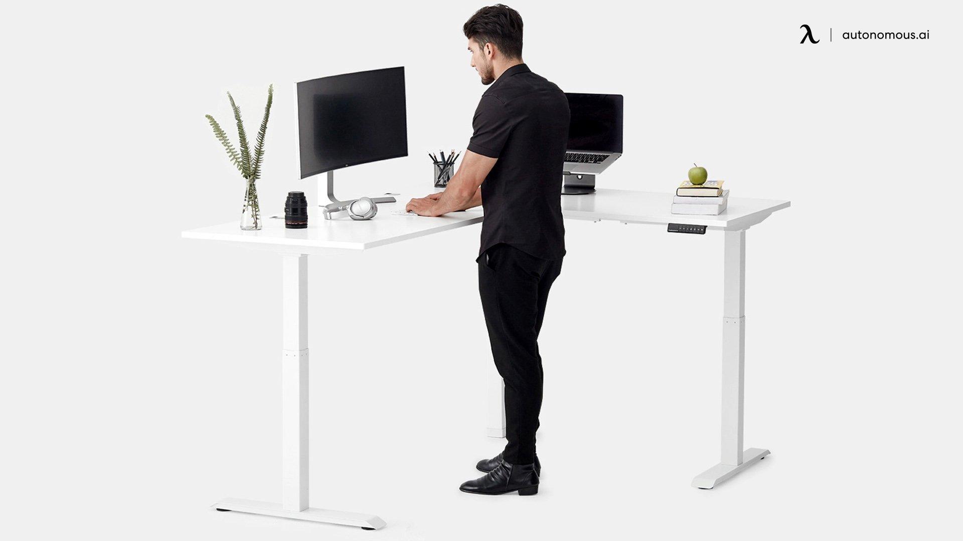 Sit-Stand Corner Desk