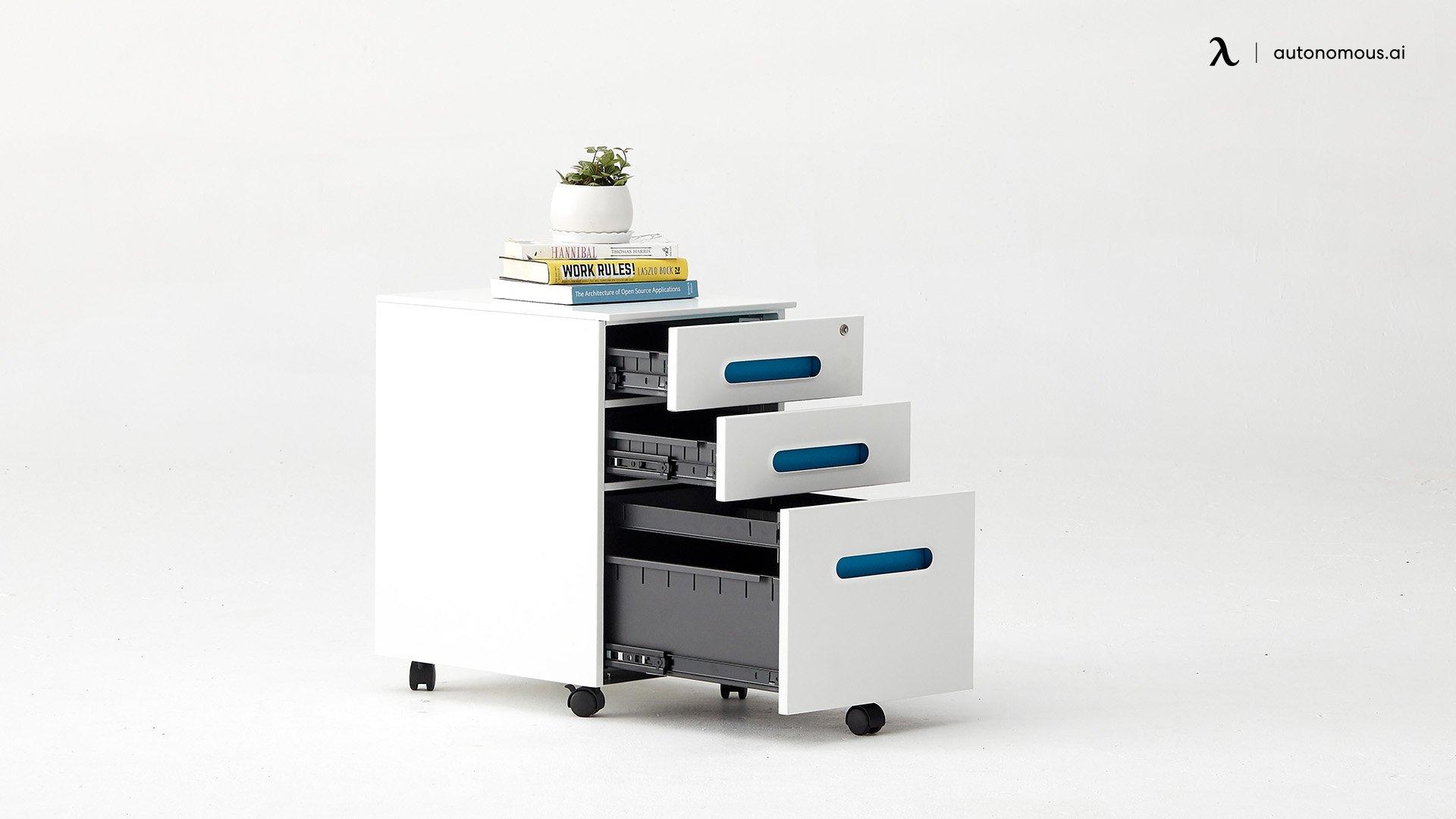 Compact Wood Desk Setup