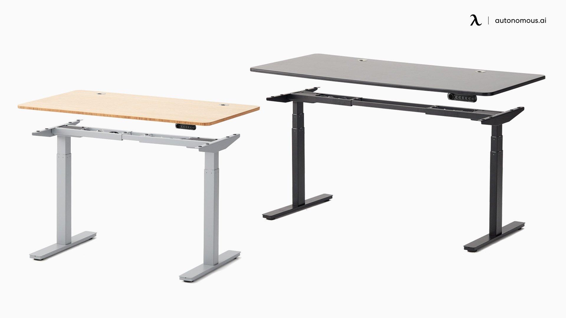 Warm Wood Desk Setup