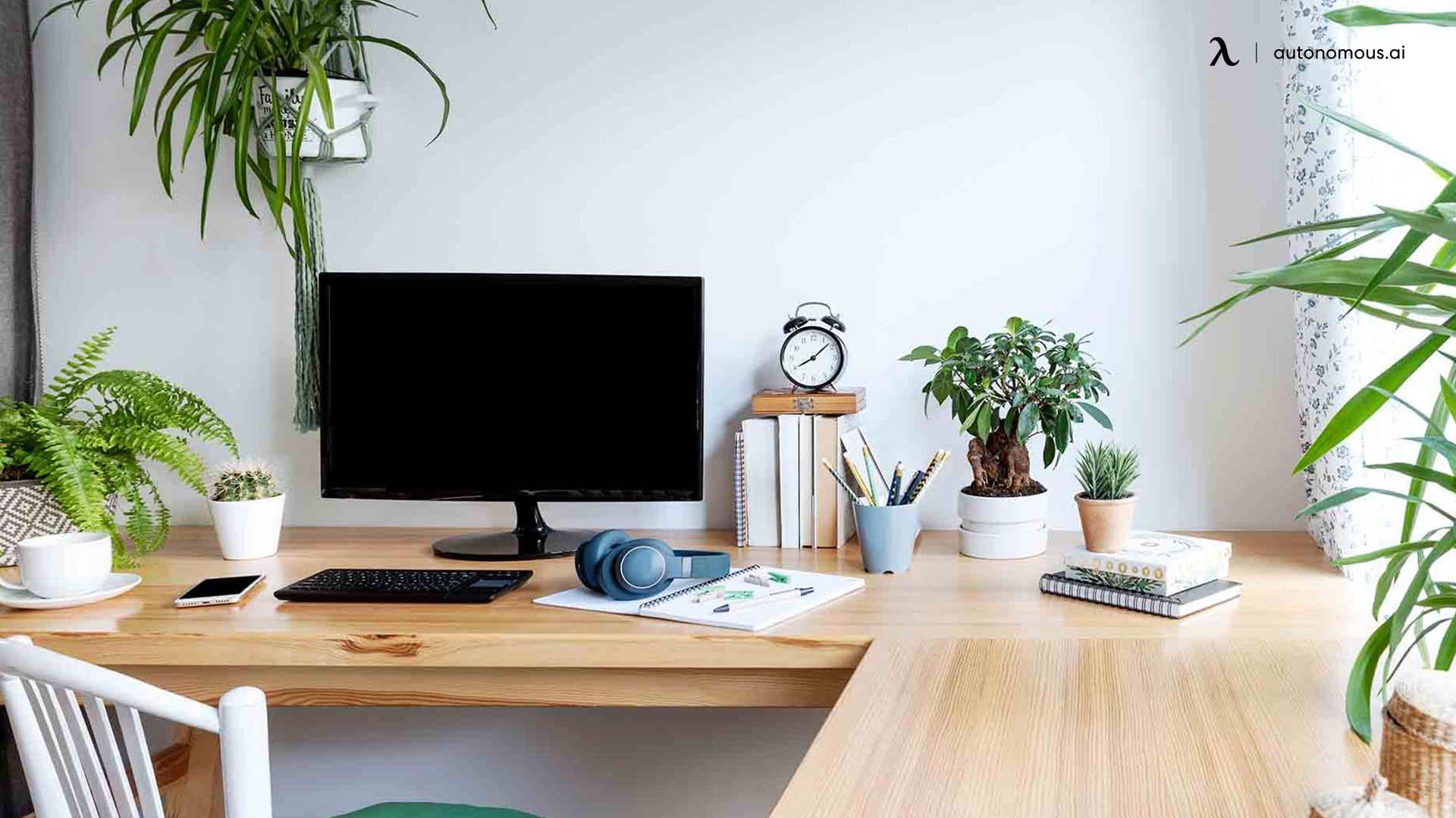 Personalized Wood Desk Setup