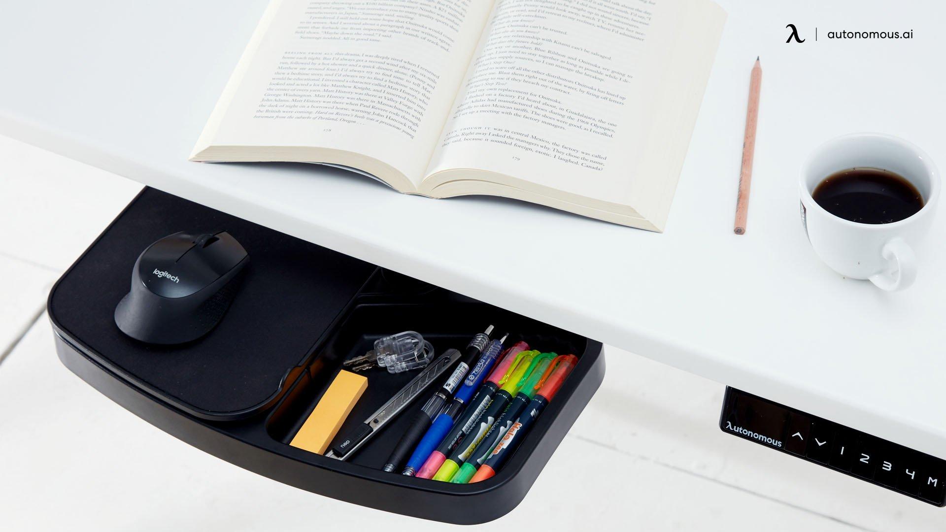 Bright Minimalist Wood Desk Setup