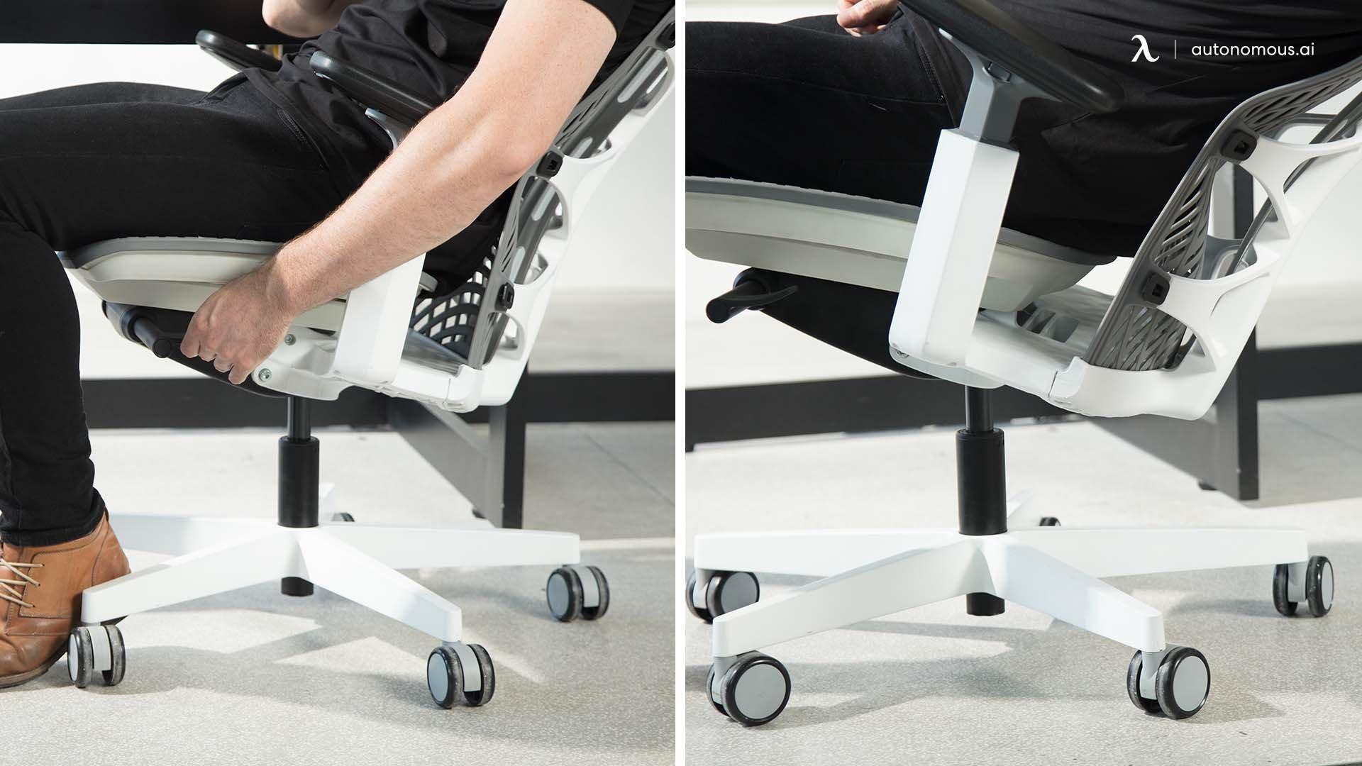 How to adjust the seat tilt and backrest?