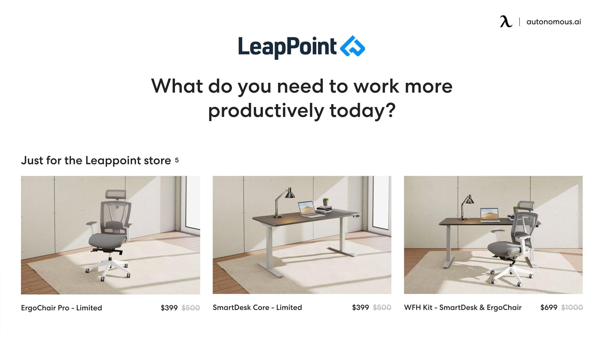 LeapPoint x Autonomous - office furniture supplier