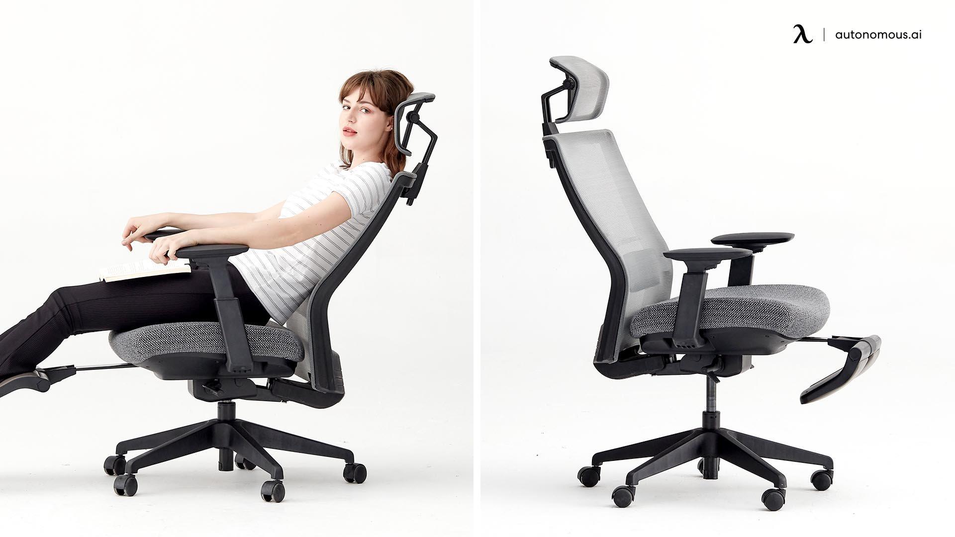 Rest your back on the backrest firmly