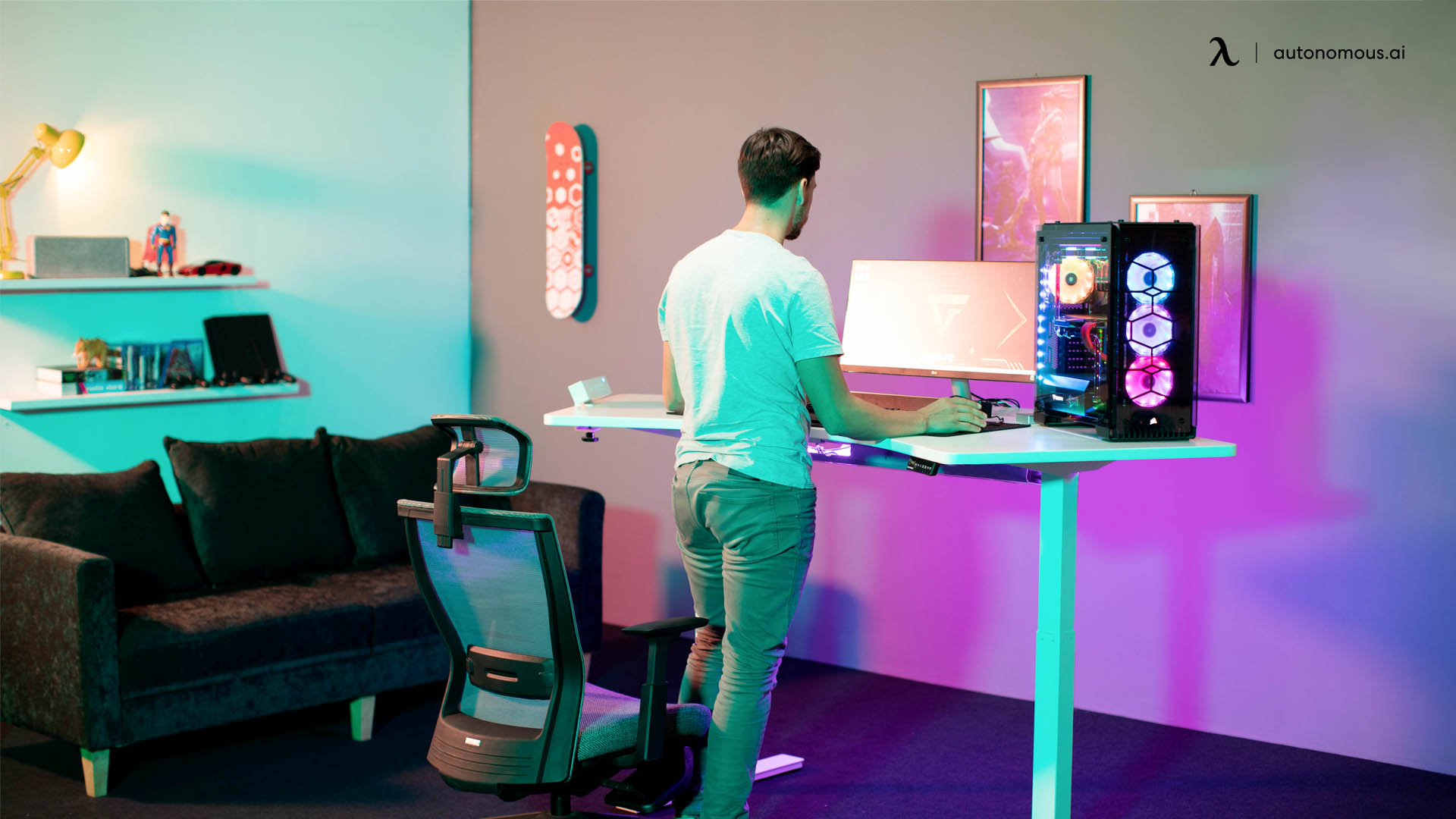 How high should a gaming desk be?