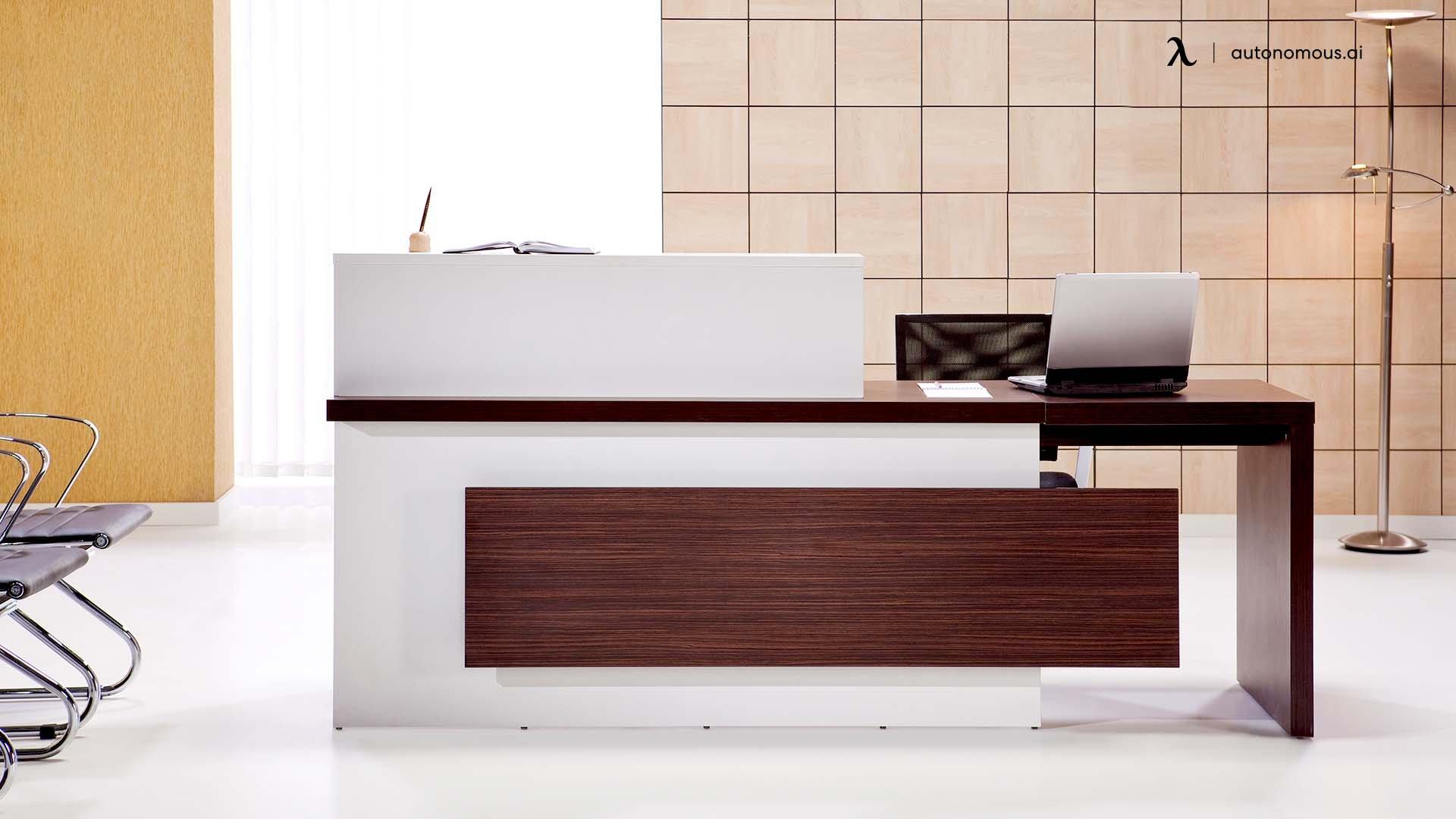 Aesthetic reception desk