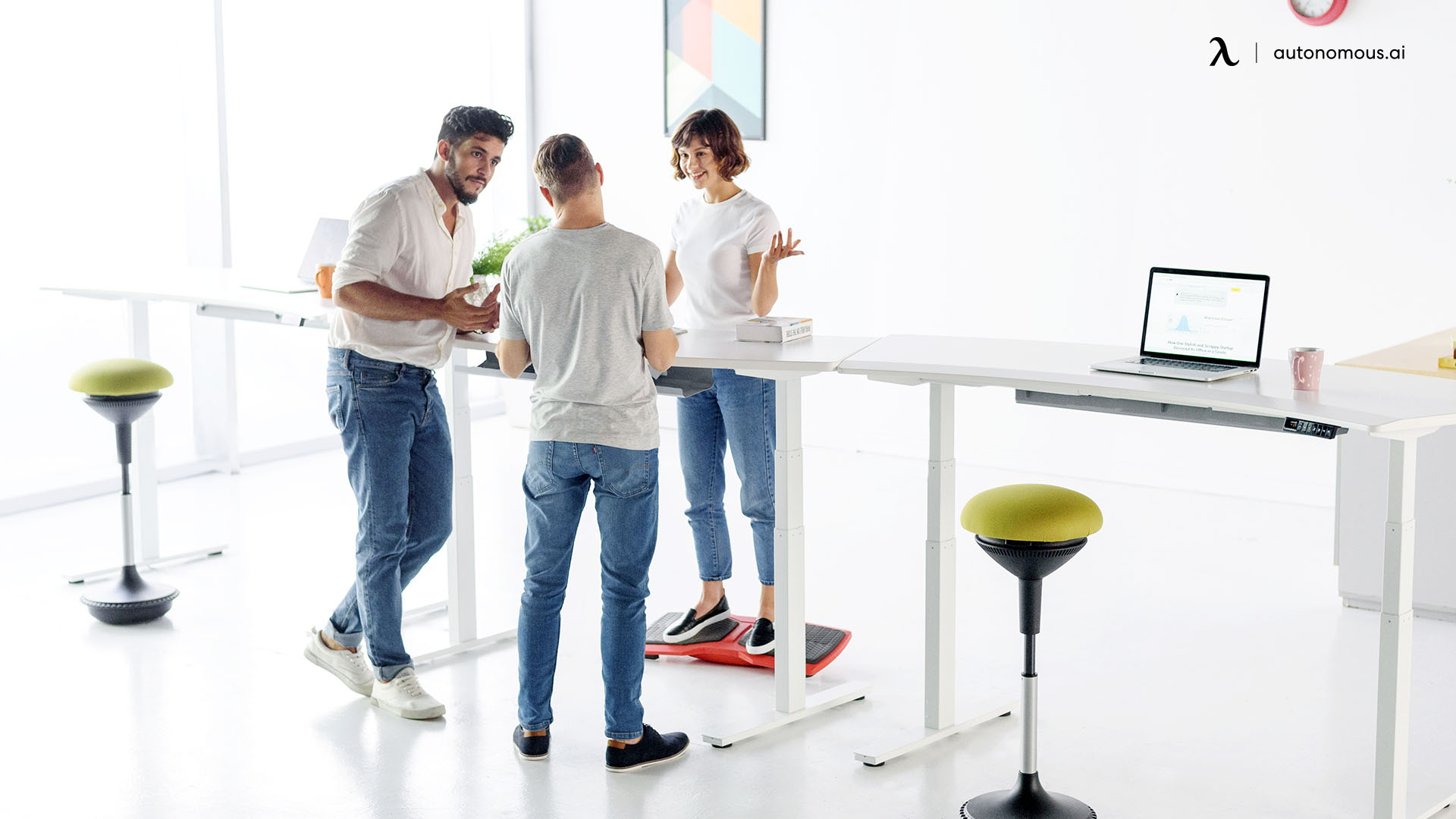 work on a standing desk
