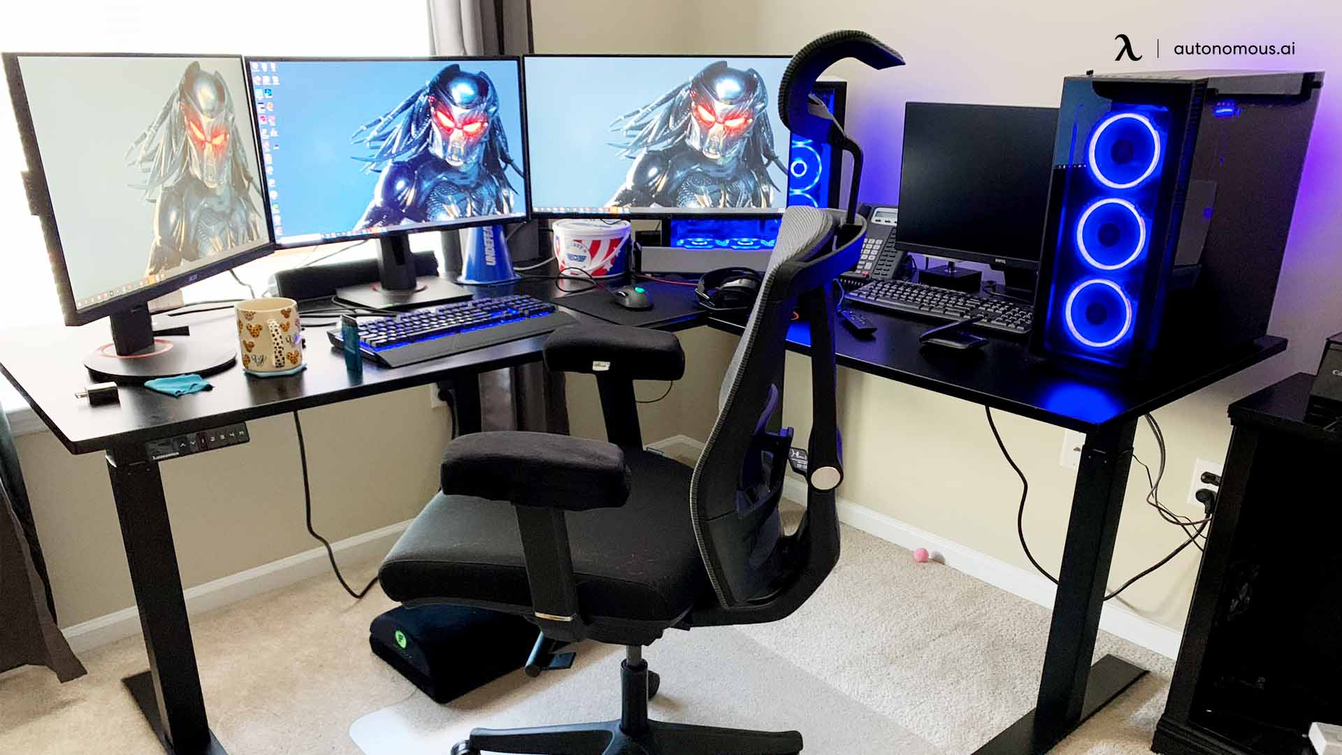 L-Shaped Gaming Desk for the Win