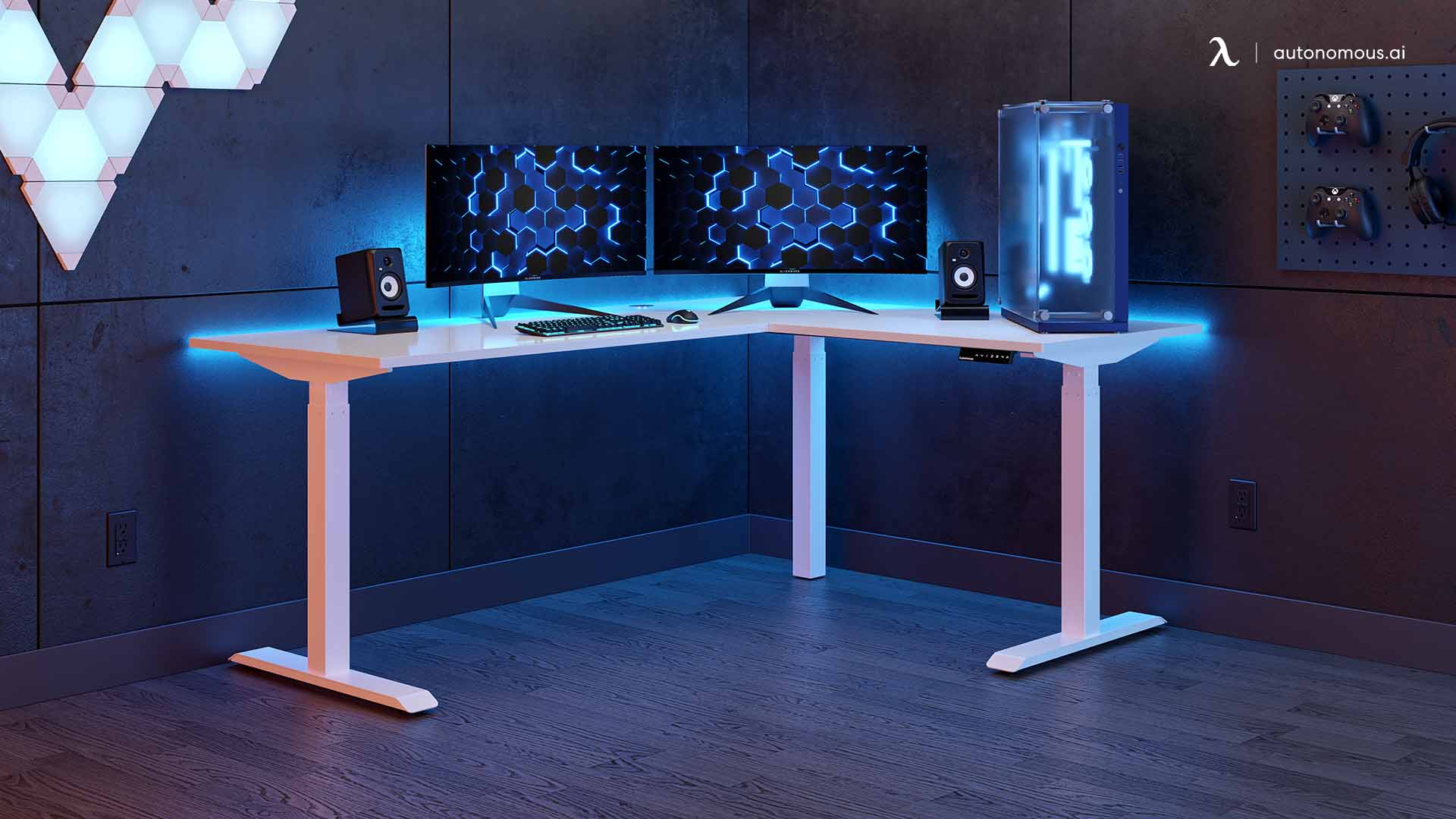 The Ultimate L-Shaped Gaming Desk