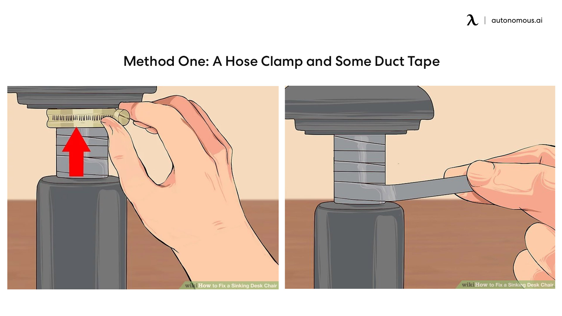 a hose clamp and some duct tape