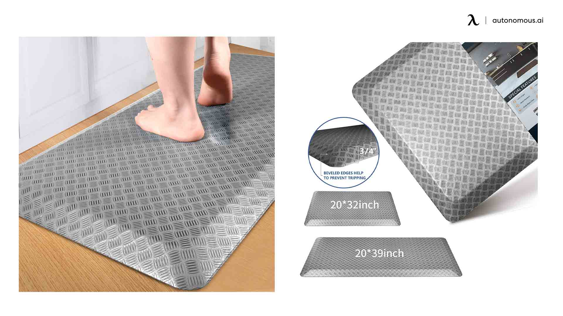 Featol Store Cushioned Foam Adjustable Desk Mat