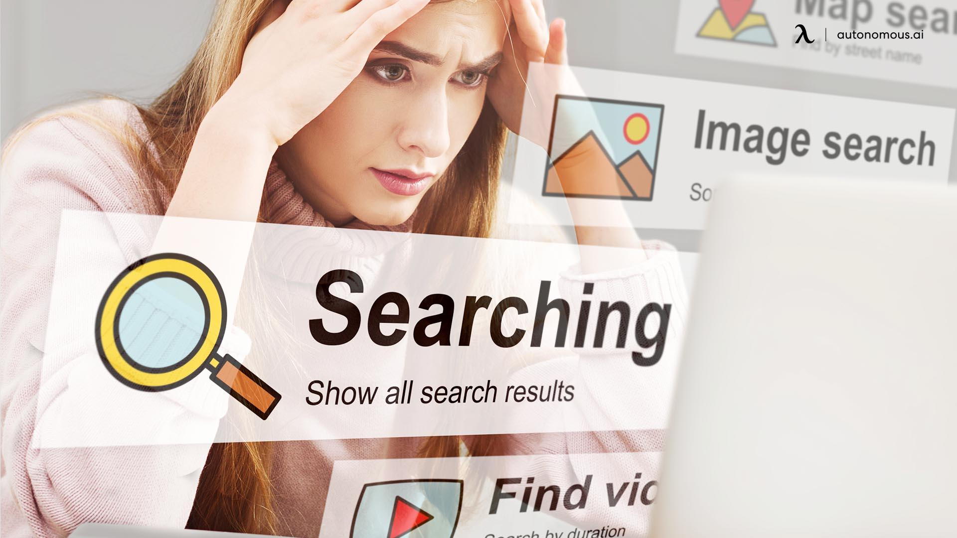 Avoid information overload