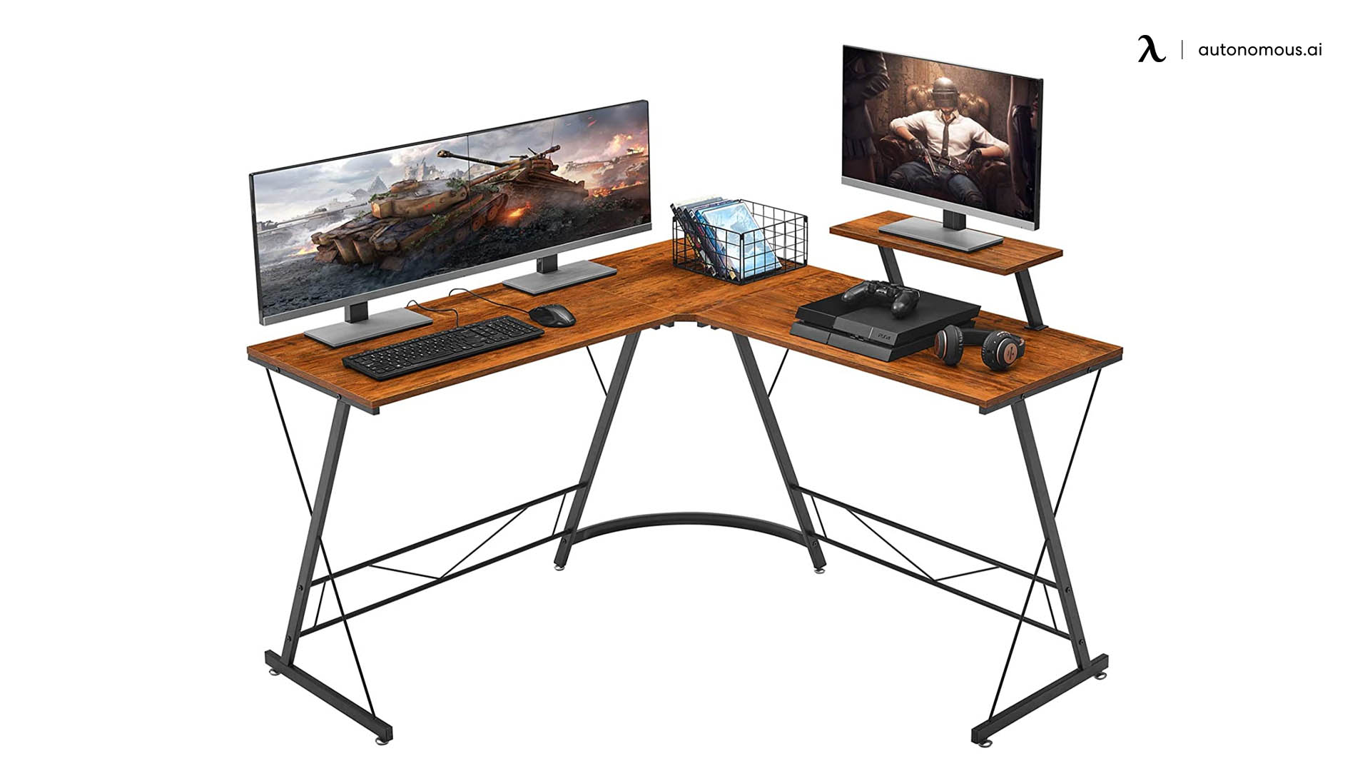 ironstone l-shaped gaming desk
