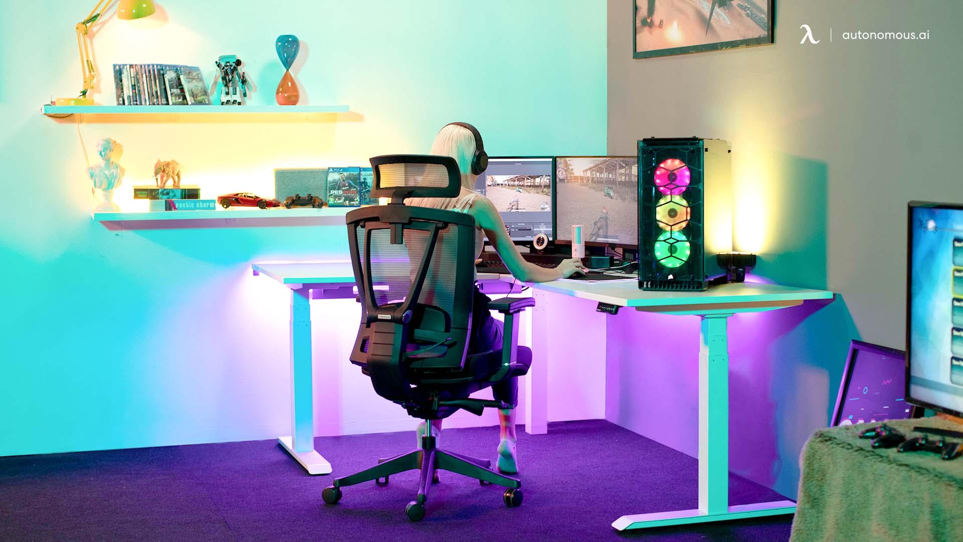 autonomous l-shaped gaming desk