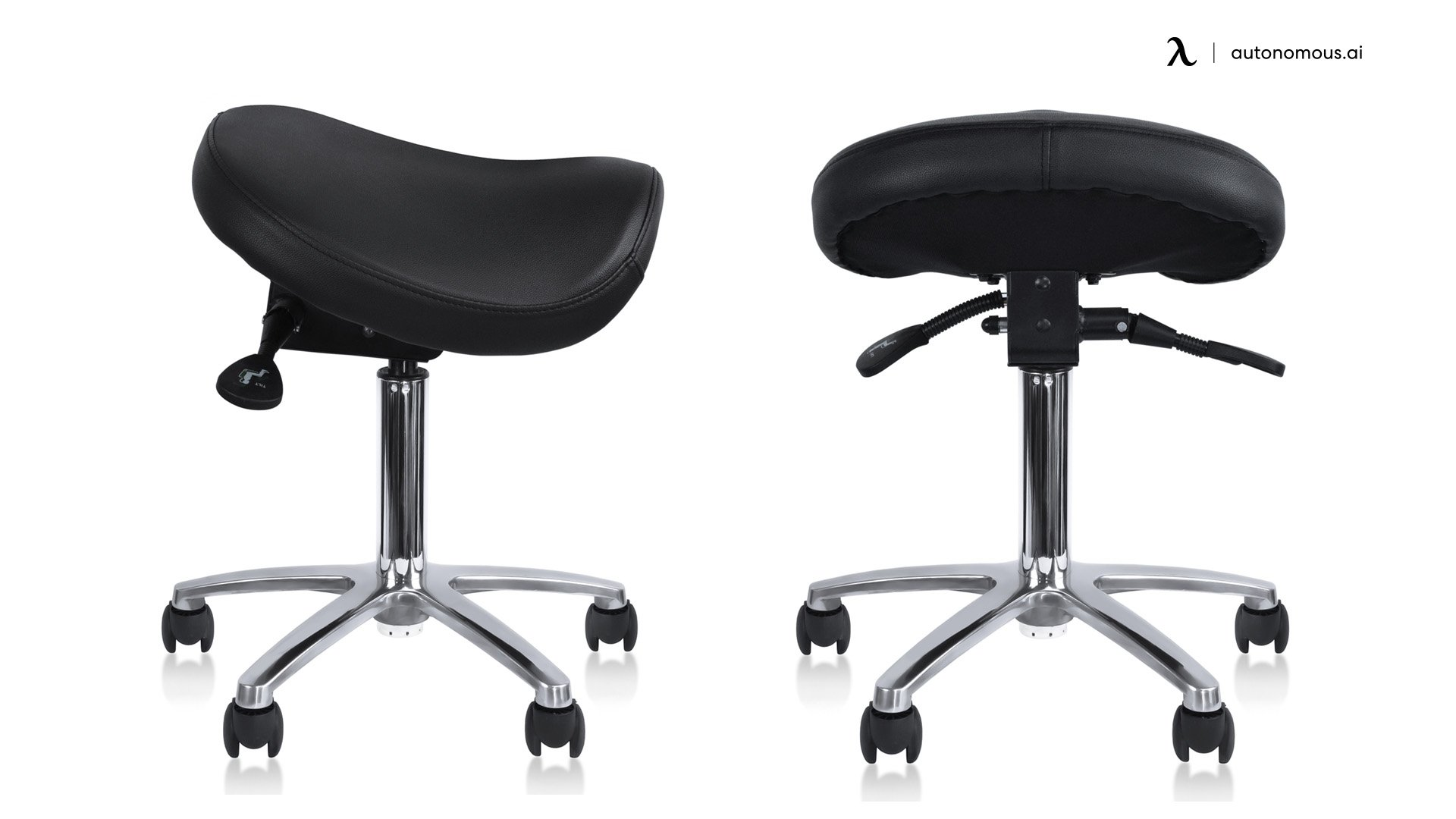 2xhome Rolling Saddle Chair