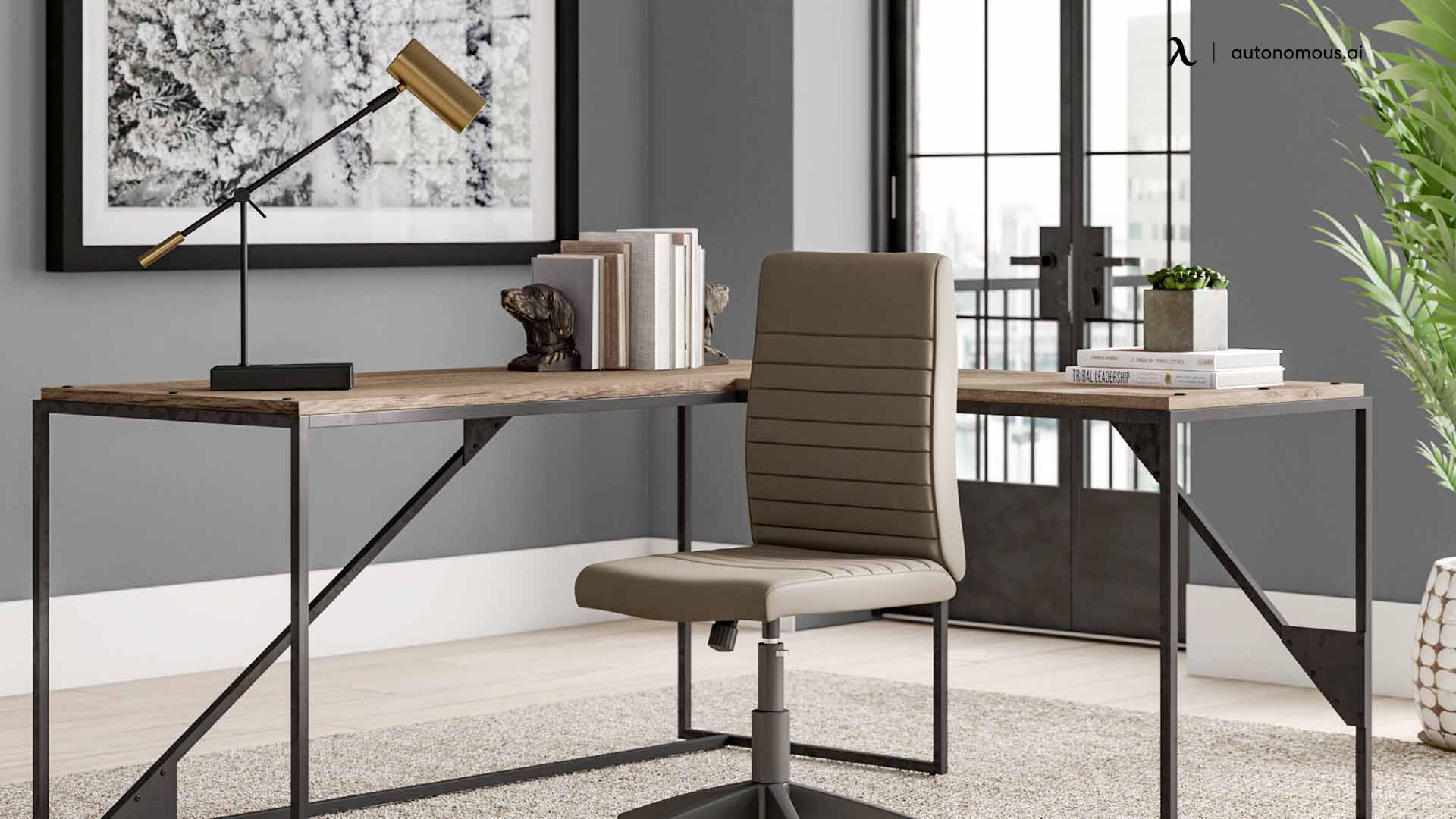 Turkol Reversible Desk and Chair Set by Latitude Run