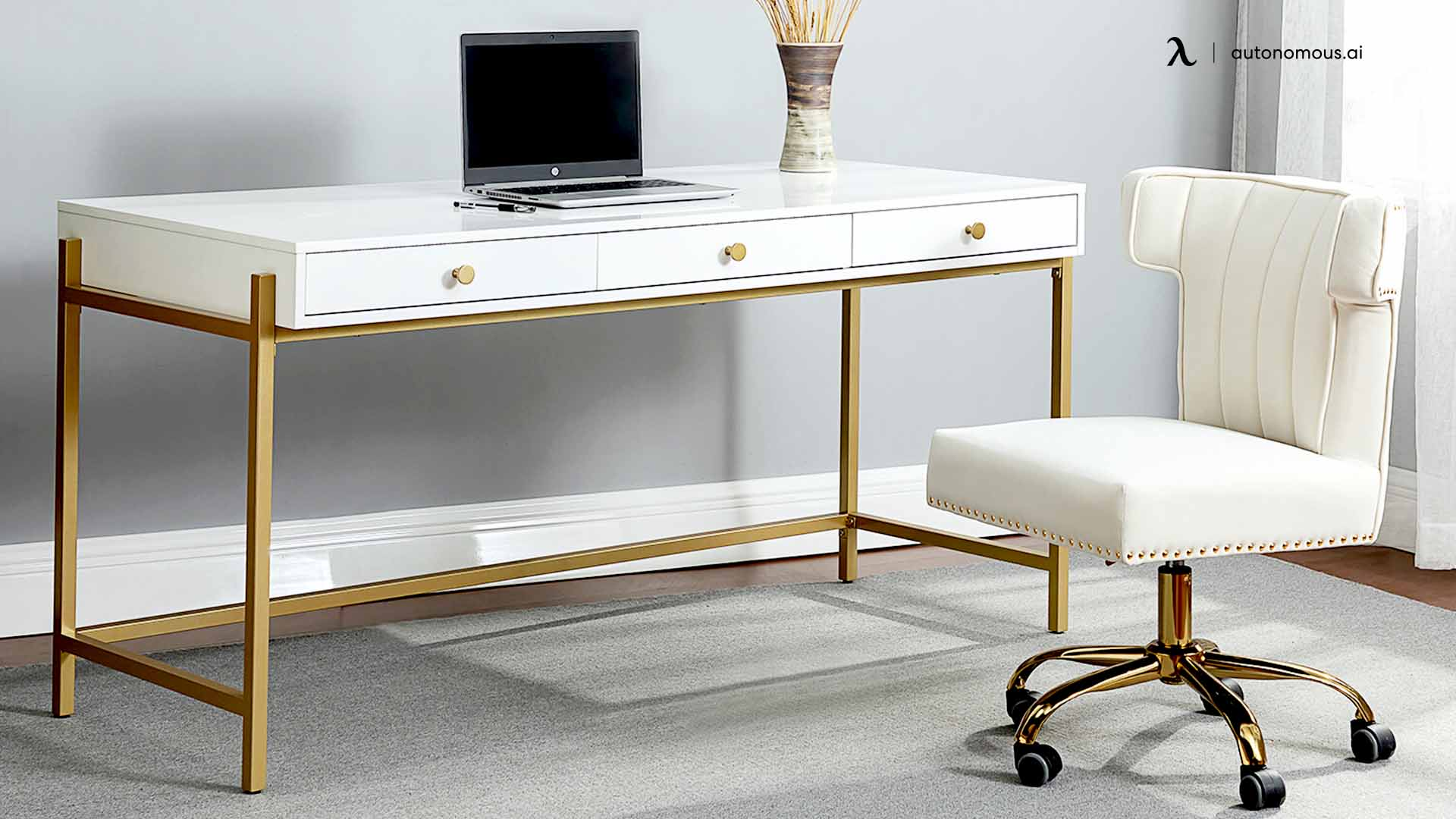 Gold Flamingo's Clint Desk and Chair Set