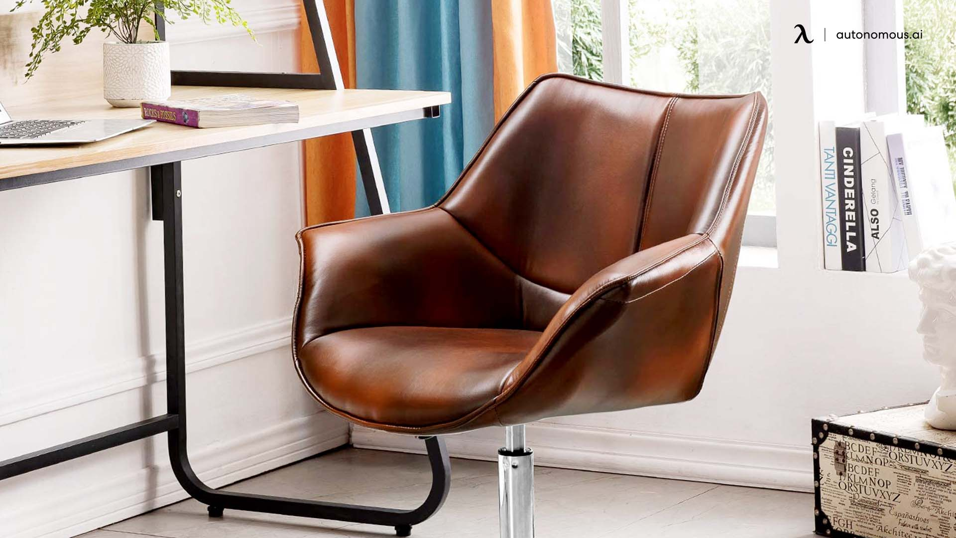 leather office chair is comfortable