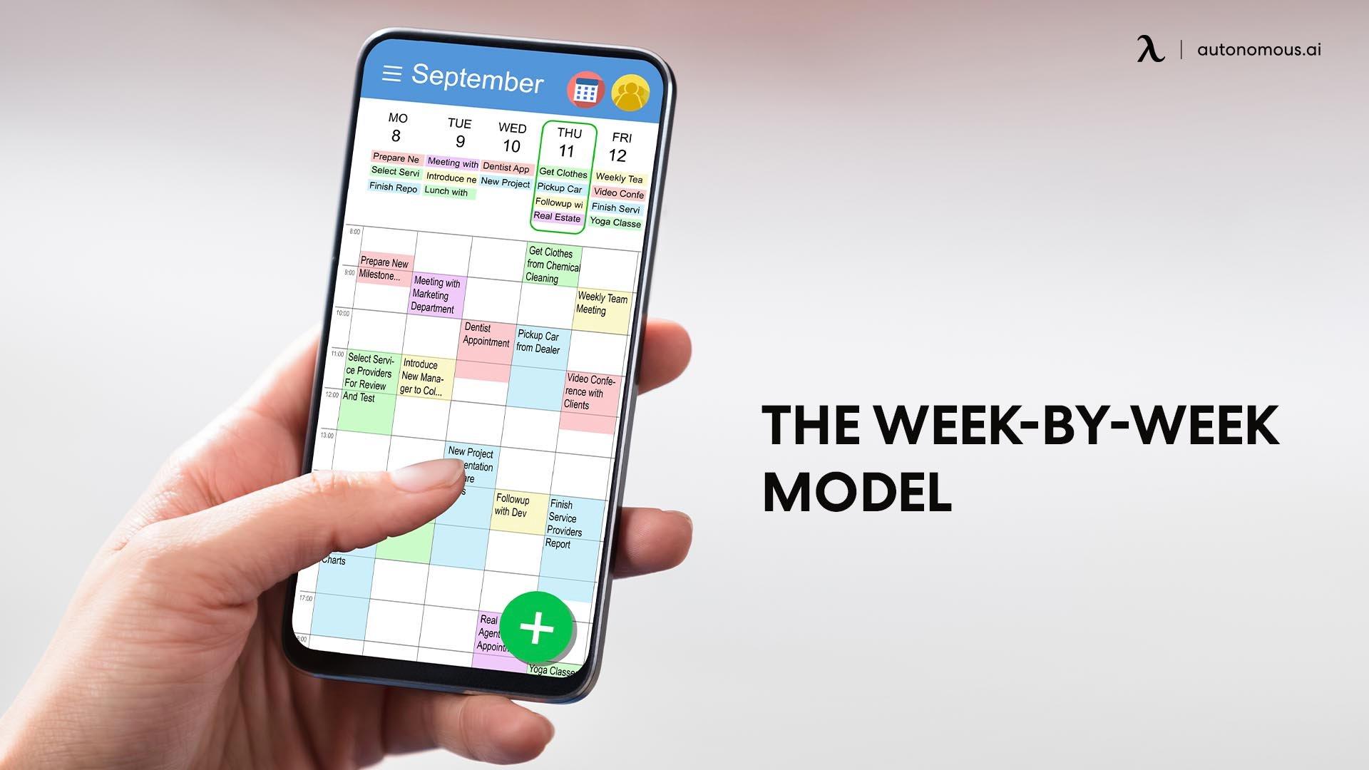 The week-by-week model