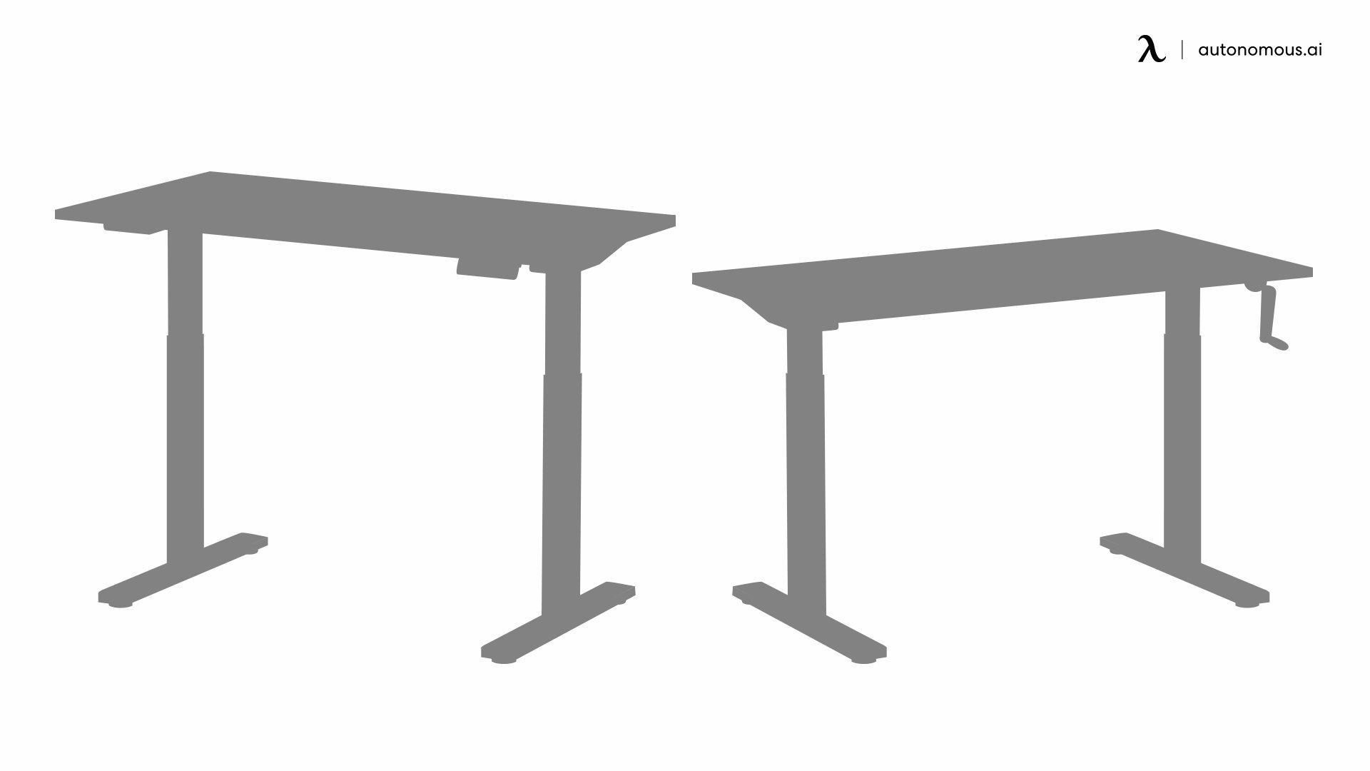 Types of standing desks