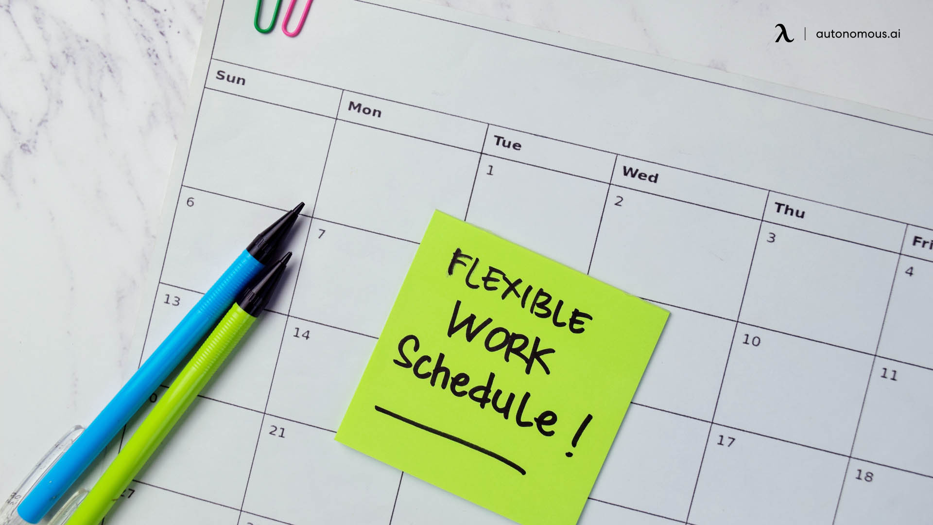 Reasons why people prefer a flexible office instead of a 9-to-5 schedule